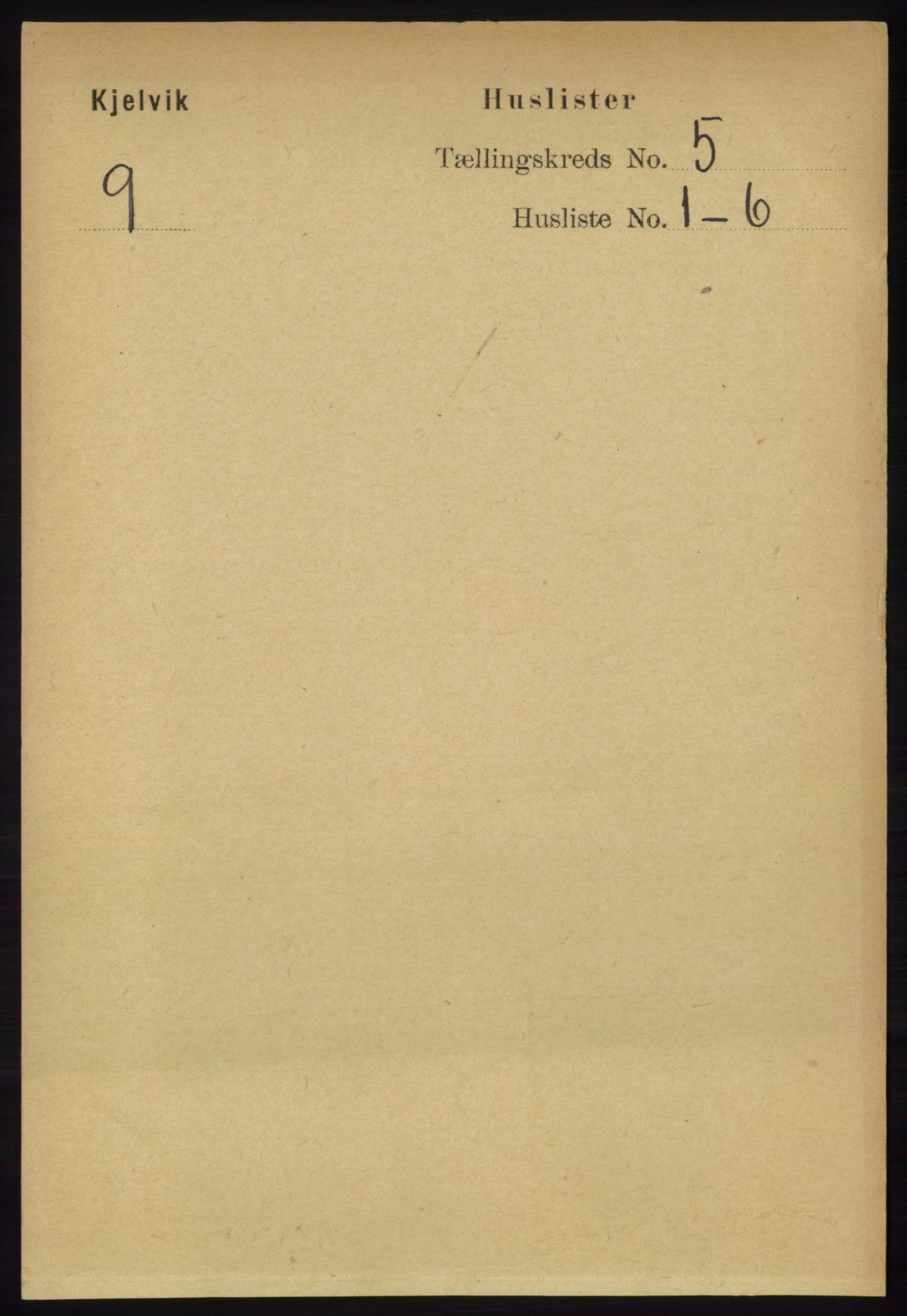 RA, Folketelling 1891 for 2019 Kjelvik herred, 1891, s. 538