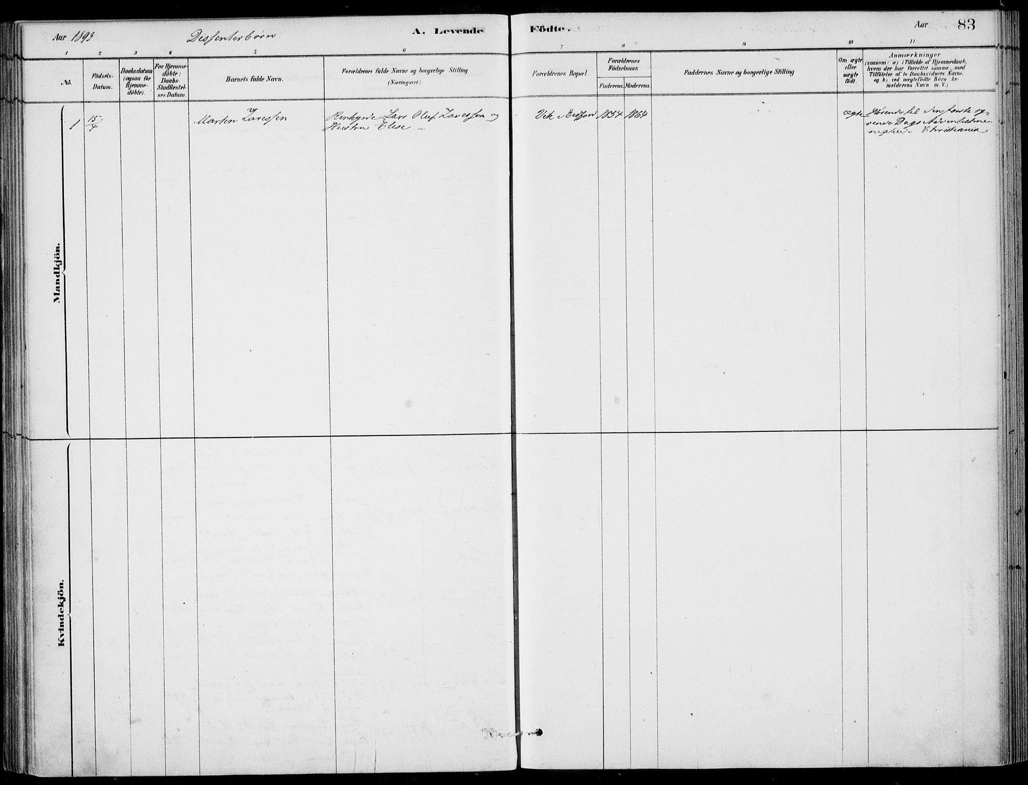 SAB, Ulvik Sokneprestembete, H/Haa: Ministerialbok nr. D  1, 1878-1903, s. 83