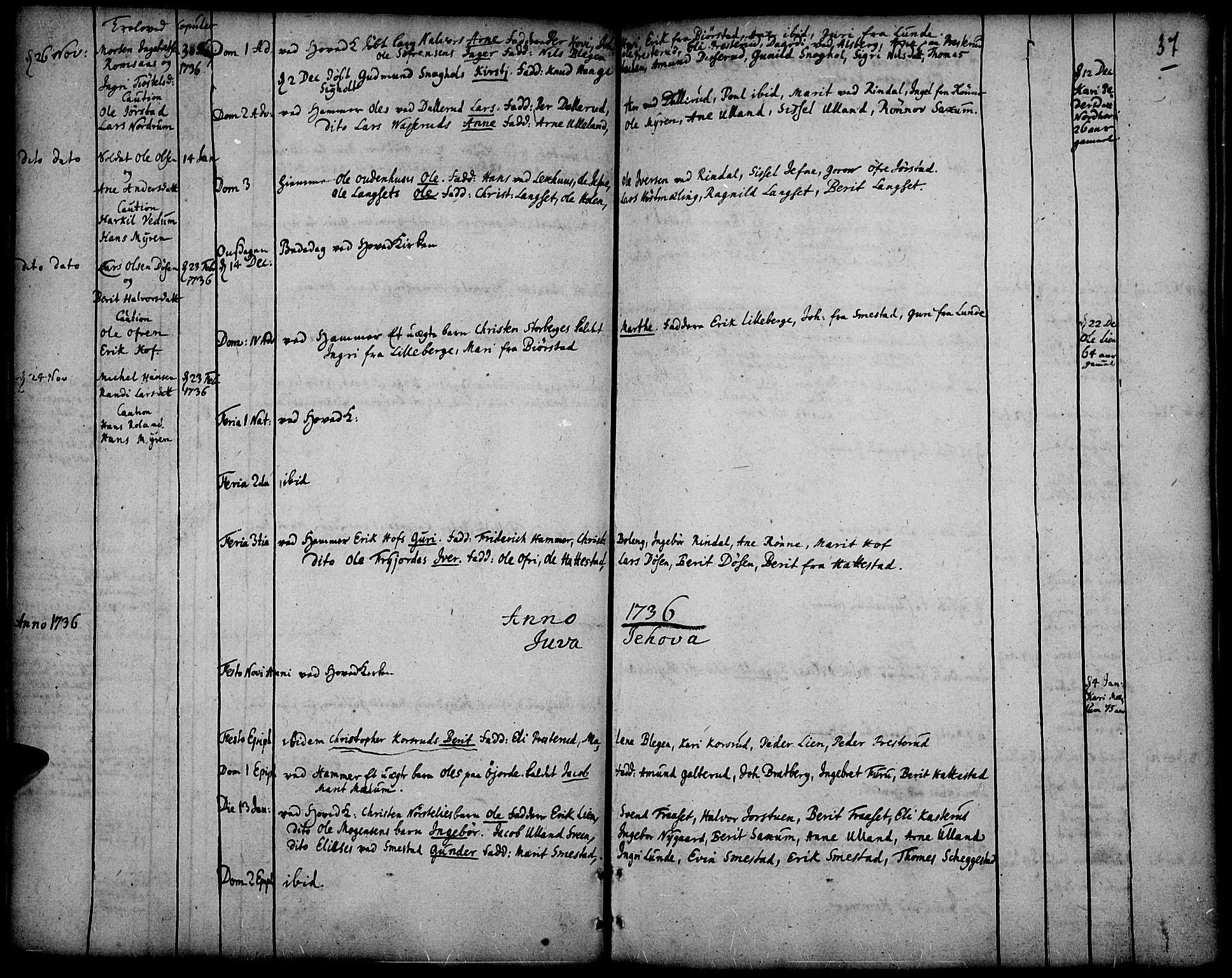 SAH, Fåberg prestekontor, Ministerialbok nr. 1, 1727-1775, s. 37