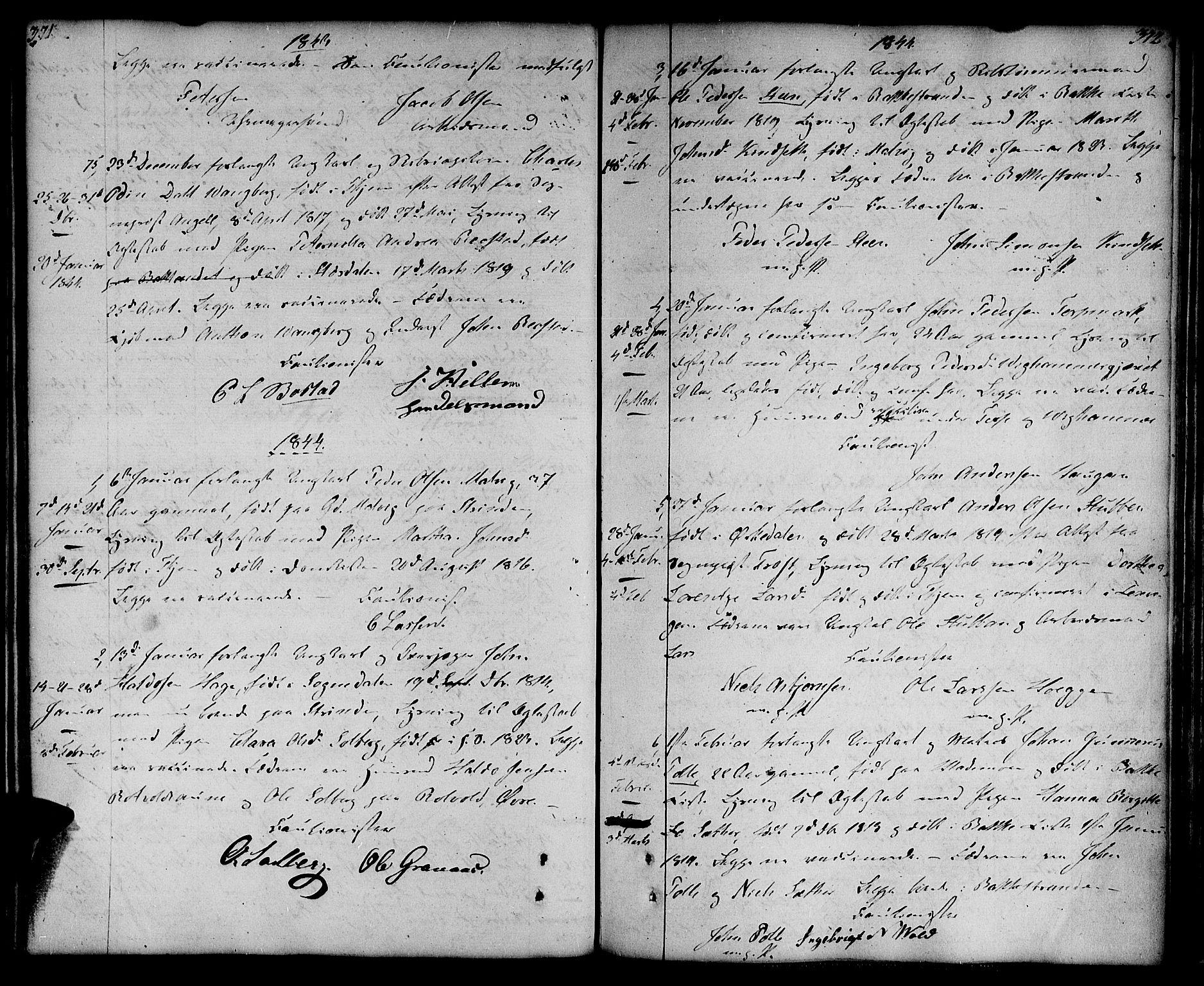 SAT, Ministerialprotokoller, klokkerbøker og fødselsregistre - Sør-Trøndelag, 604/L0181: Ministerialbok nr. 604A02, 1798-1817, s. 371-372