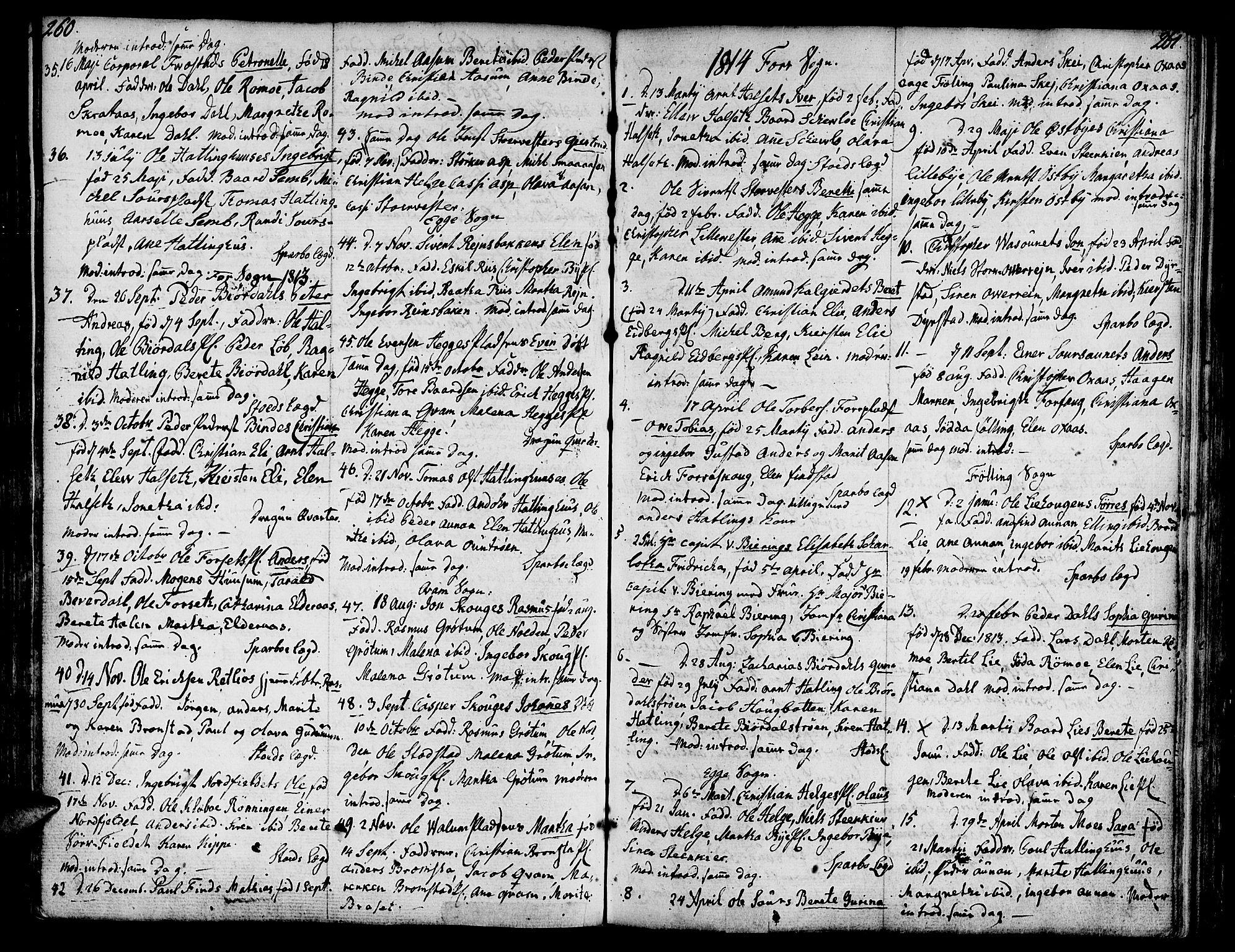 SAT, Ministerialprotokoller, klokkerbøker og fødselsregistre - Nord-Trøndelag, 746/L0440: Ministerialbok nr. 746A02, 1760-1815, s. 260-261