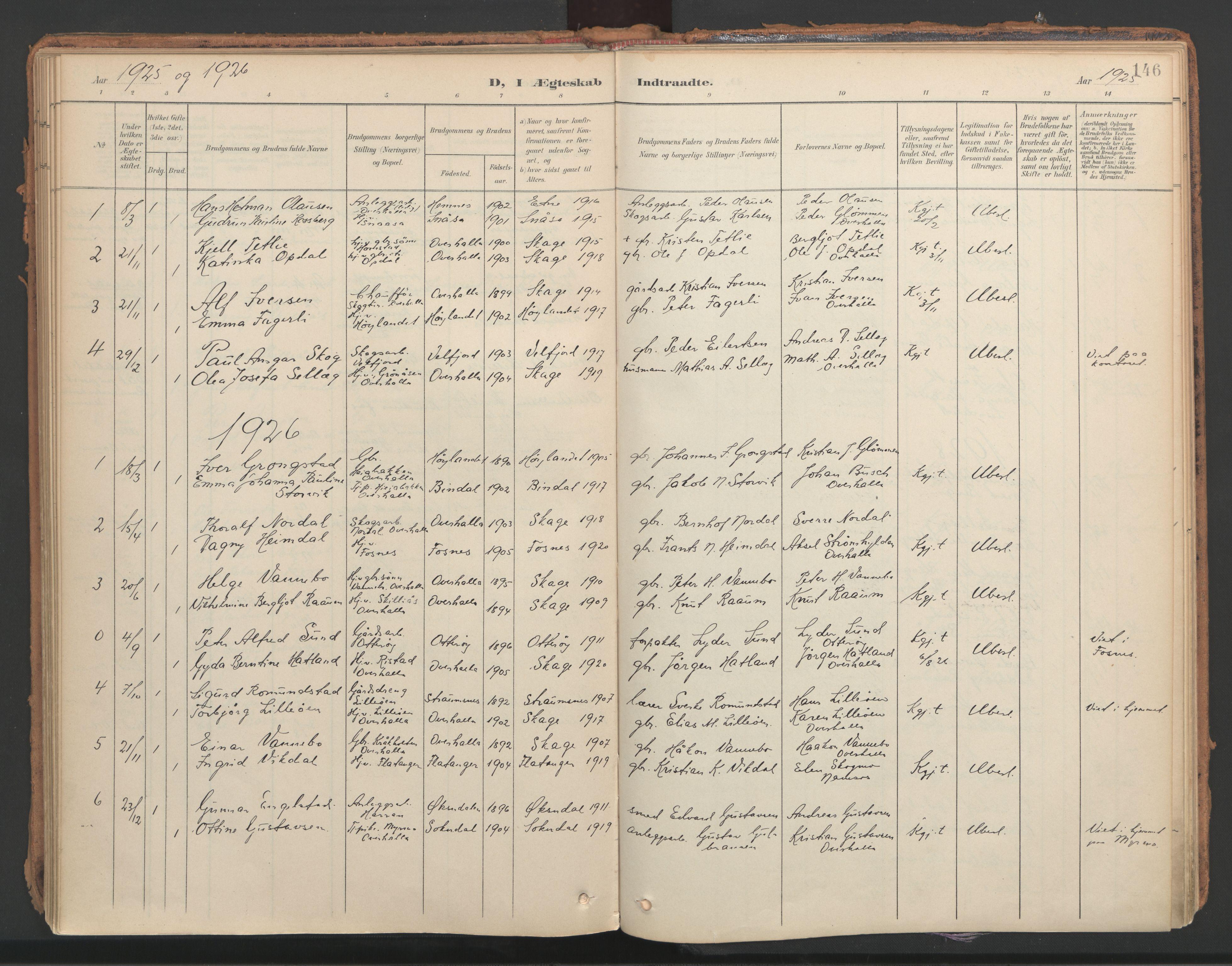 SAT, Ministerialprotokoller, klokkerbøker og fødselsregistre - Nord-Trøndelag, 766/L0564: Ministerialbok nr. 767A02, 1900-1932, s. 146
