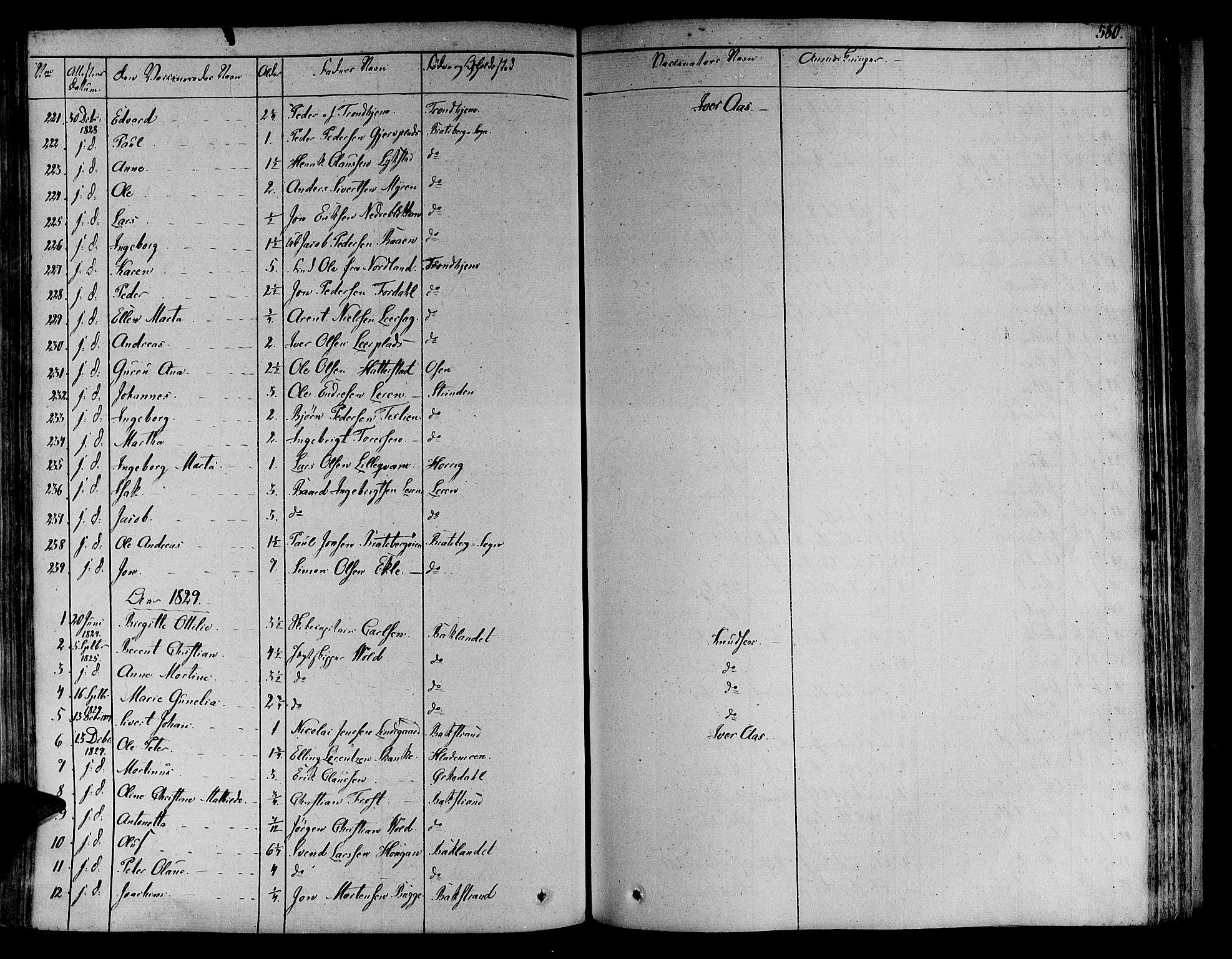 SAT, Ministerialprotokoller, klokkerbøker og fødselsregistre - Sør-Trøndelag, 606/L0286: Ministerialbok nr. 606A04 /1, 1823-1840, s. 580