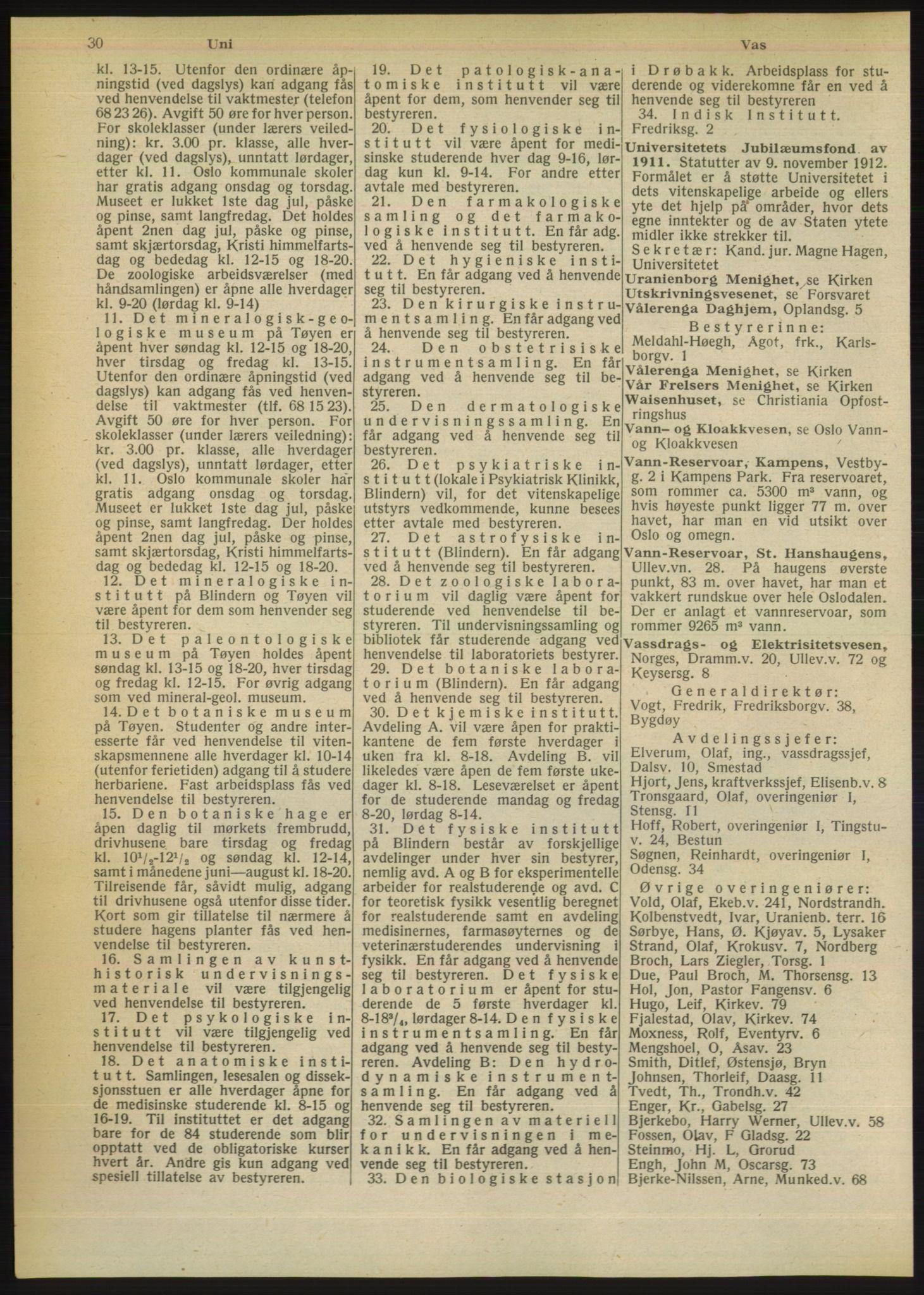 RA, Oslo adressebok (publikasjon)*, 1949, s. 30