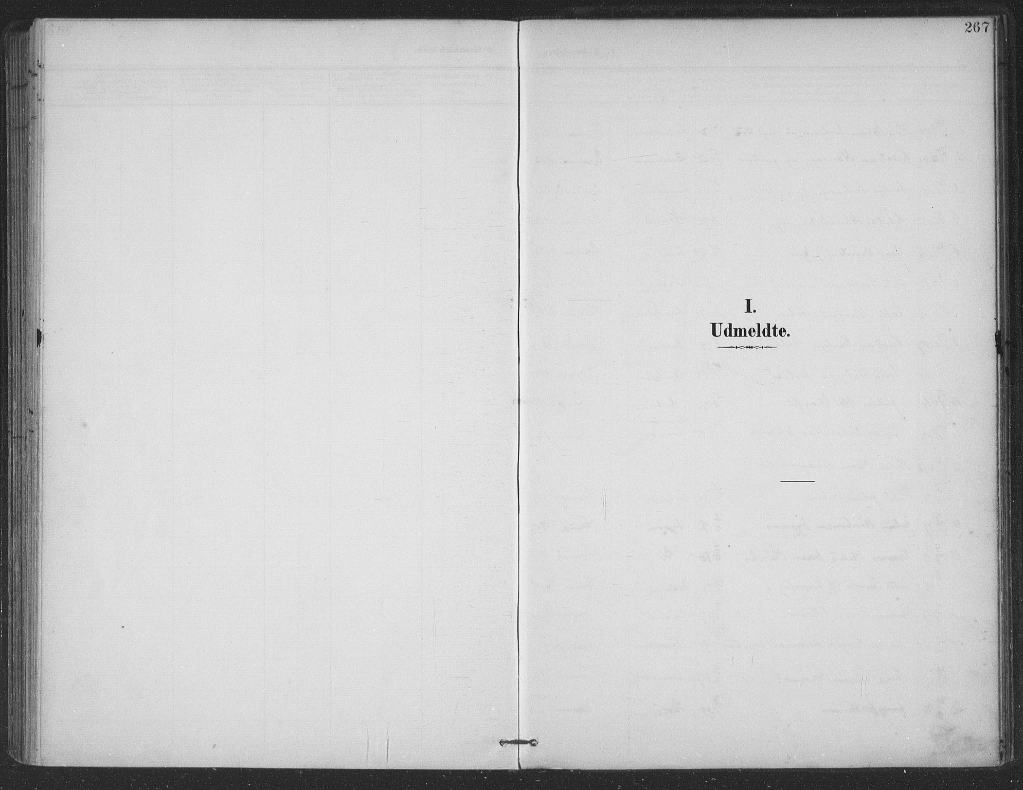 SAT, Ministerialprotokoller, klokkerbøker og fødselsregistre - Nordland, 863/L0899: Ministerialbok nr. 863A11, 1897-1906, s. 267