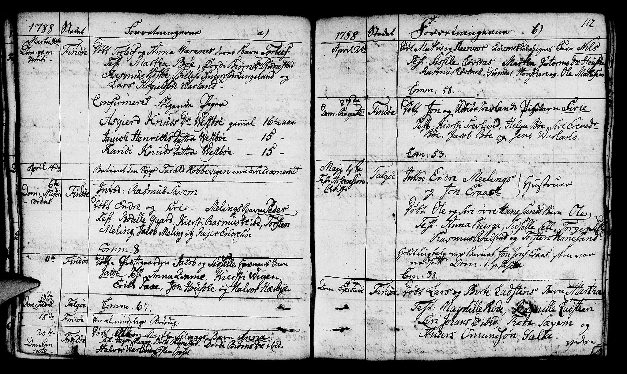 SAST, Finnøy sokneprestkontor, H/Ha/Haa/L0005: Ministerialbok nr. A 5, 1773-1816, s. 112