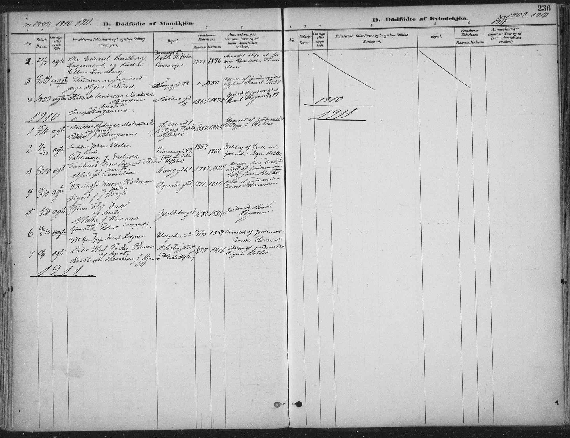 SAT, Ministerialprotokoller, klokkerbøker og fødselsregistre - Sør-Trøndelag, 601/L0062: Ministerialbok nr. 601A30, 1891-1911, s. 236