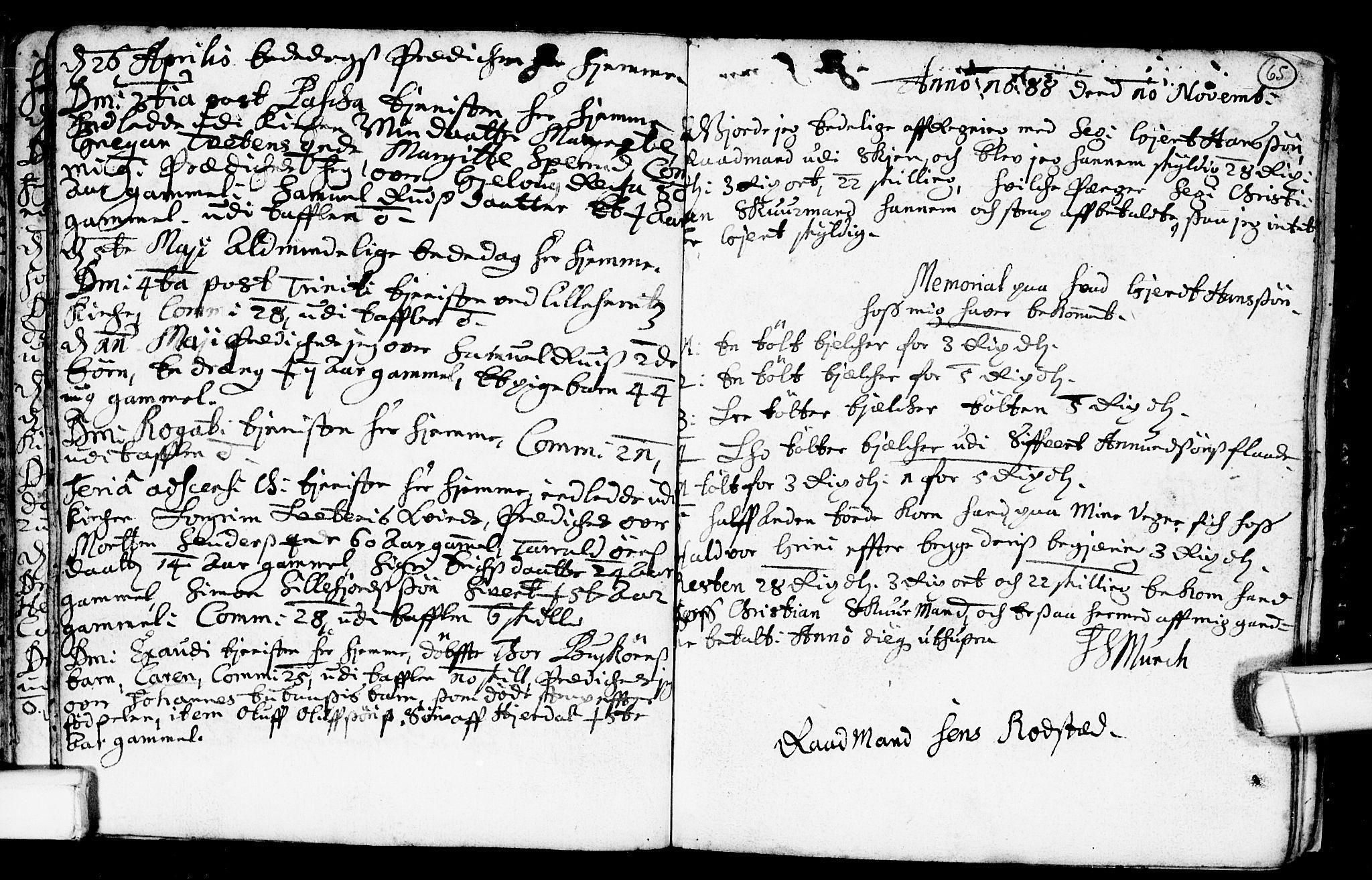 SAKO, Heddal kirkebøker, F/Fa/L0001: Ministerialbok nr. I 1, 1648-1699, s. 65