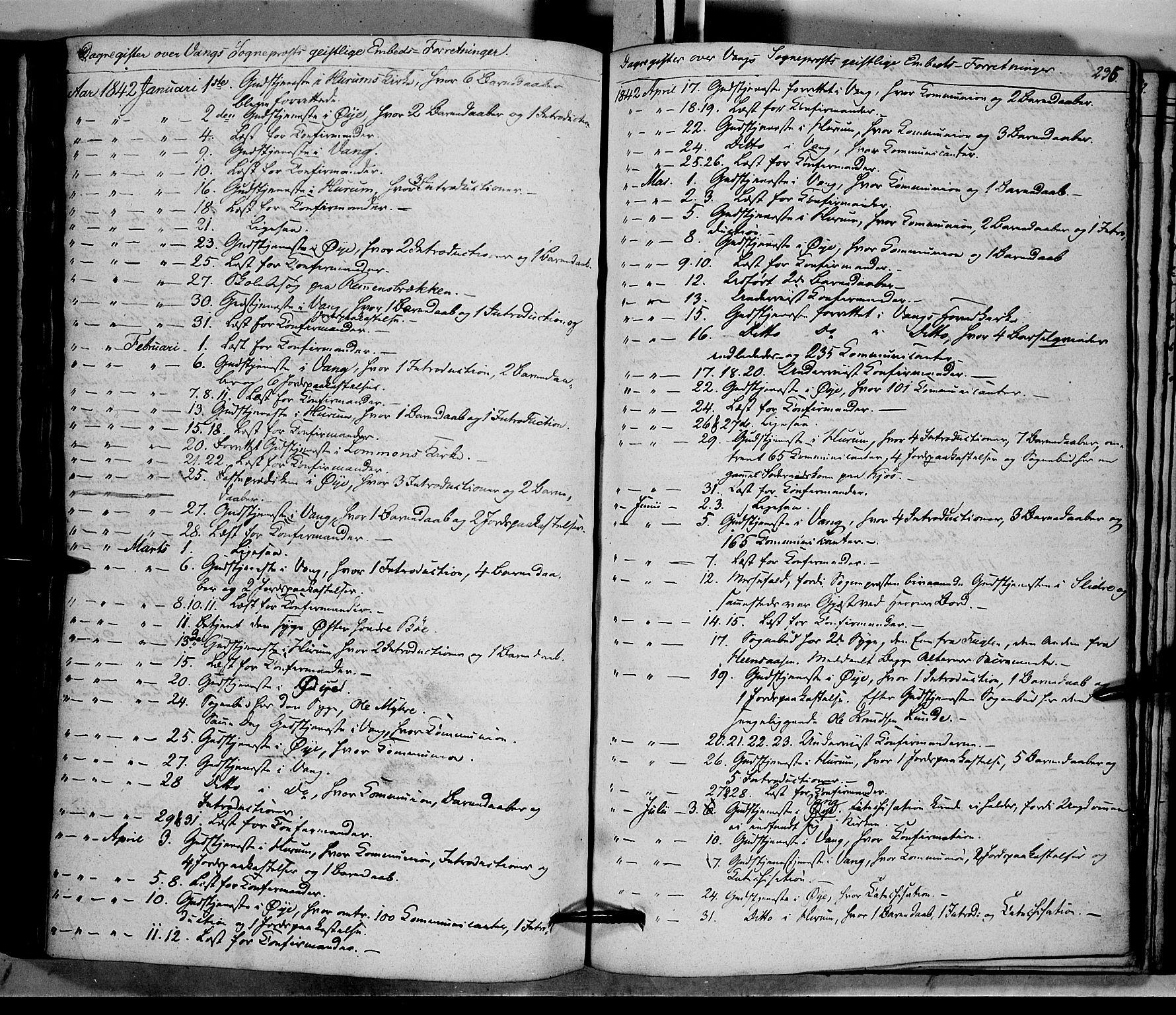 SAH, Vang prestekontor, Valdres, Ministerialbok nr. 5, 1831-1845, s. 235
