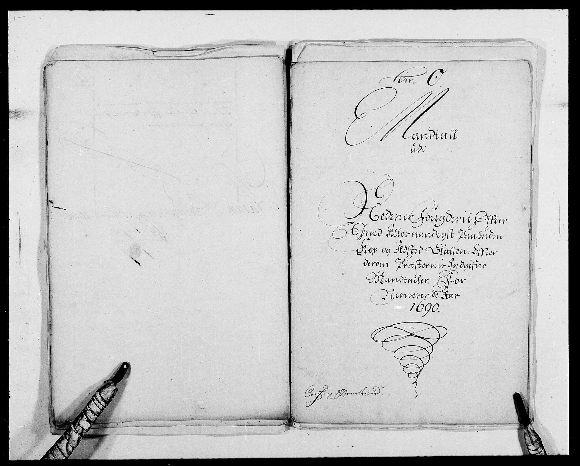 RA, Rentekammeret inntil 1814, Reviderte regnskaper, Fogderegnskap, R39/L2310: Fogderegnskap Nedenes, 1690-1692, s. 263