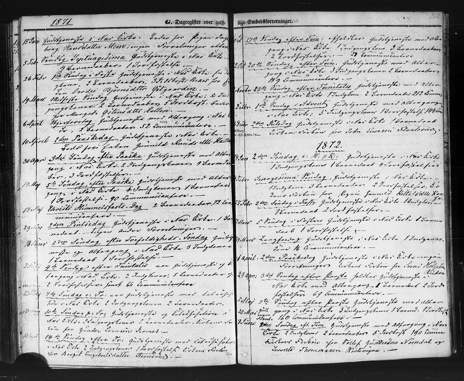 SAKO, Sauherad kirkebøker, F/Fb/L0001: Ministerialbok nr. II 1, 1851-1877, s. 262