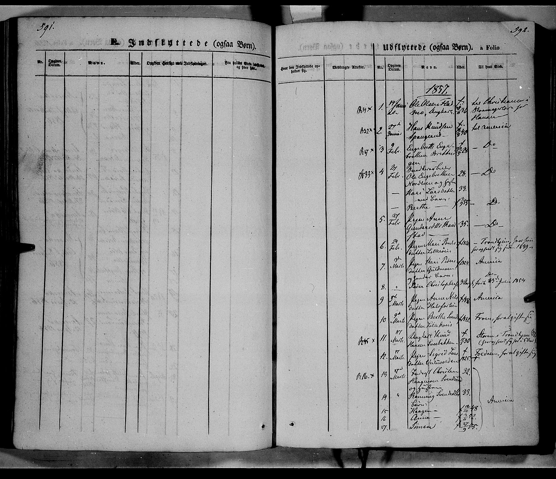 SAH, Ringebu prestekontor, Ministerialbok nr. 6, 1848-1859, s. 591-592