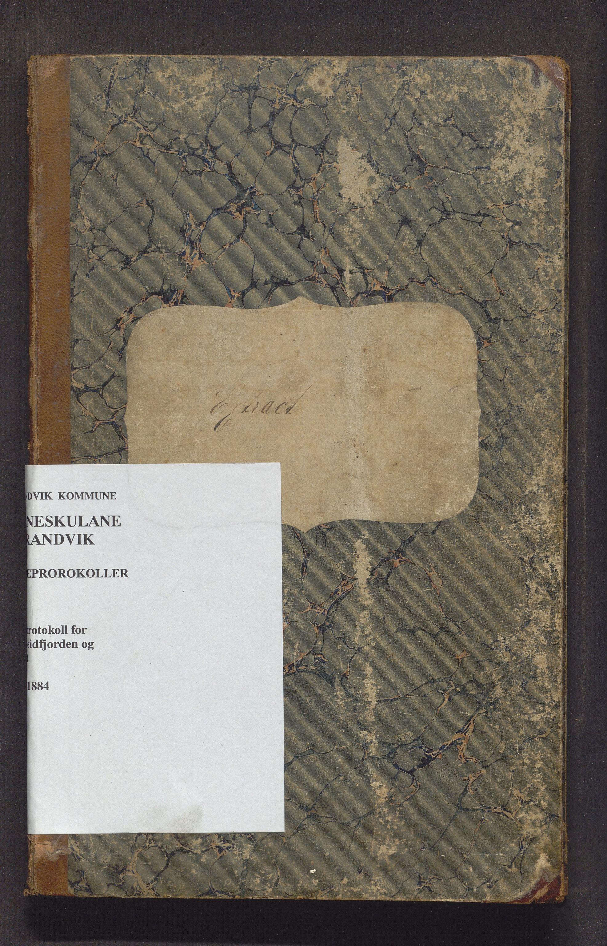 IKAH, Strandvik kommune. Barneskulane, F/Fa/L0007: Skuleprotokoll for Sævareidfjorden og Næsset krinsar i Fusa prestegjeld, 1872-1884