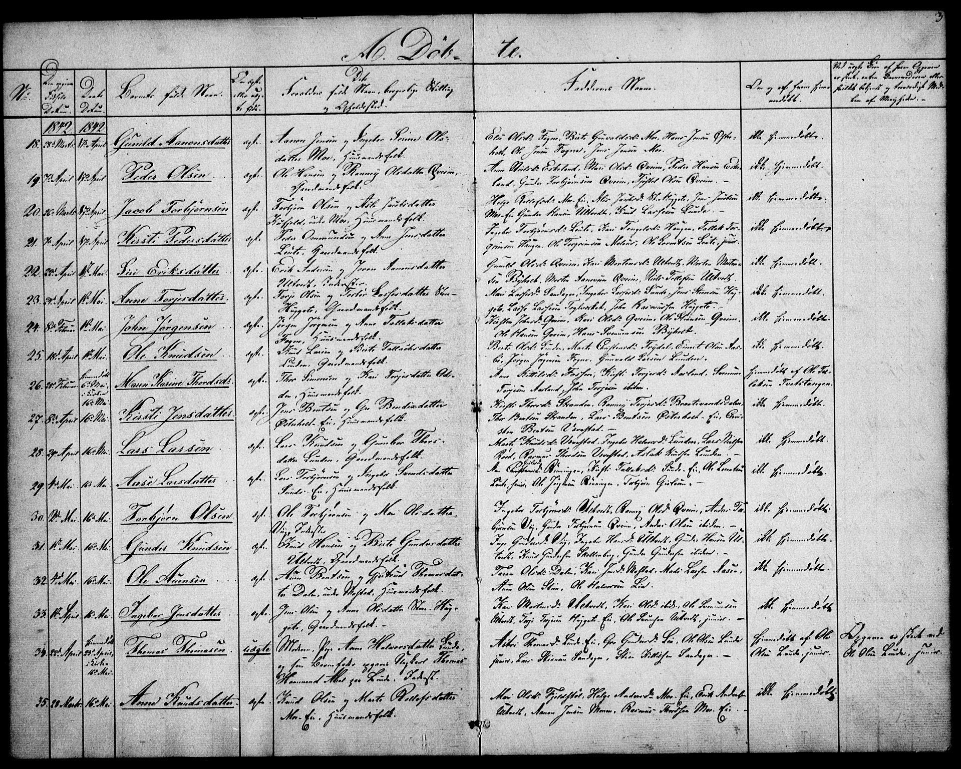 SAK, Gjerstad sokneprestkontor, F/Fa/Faa/L0006: Ministerialbok nr. A 6, 1841-1857, s. 3