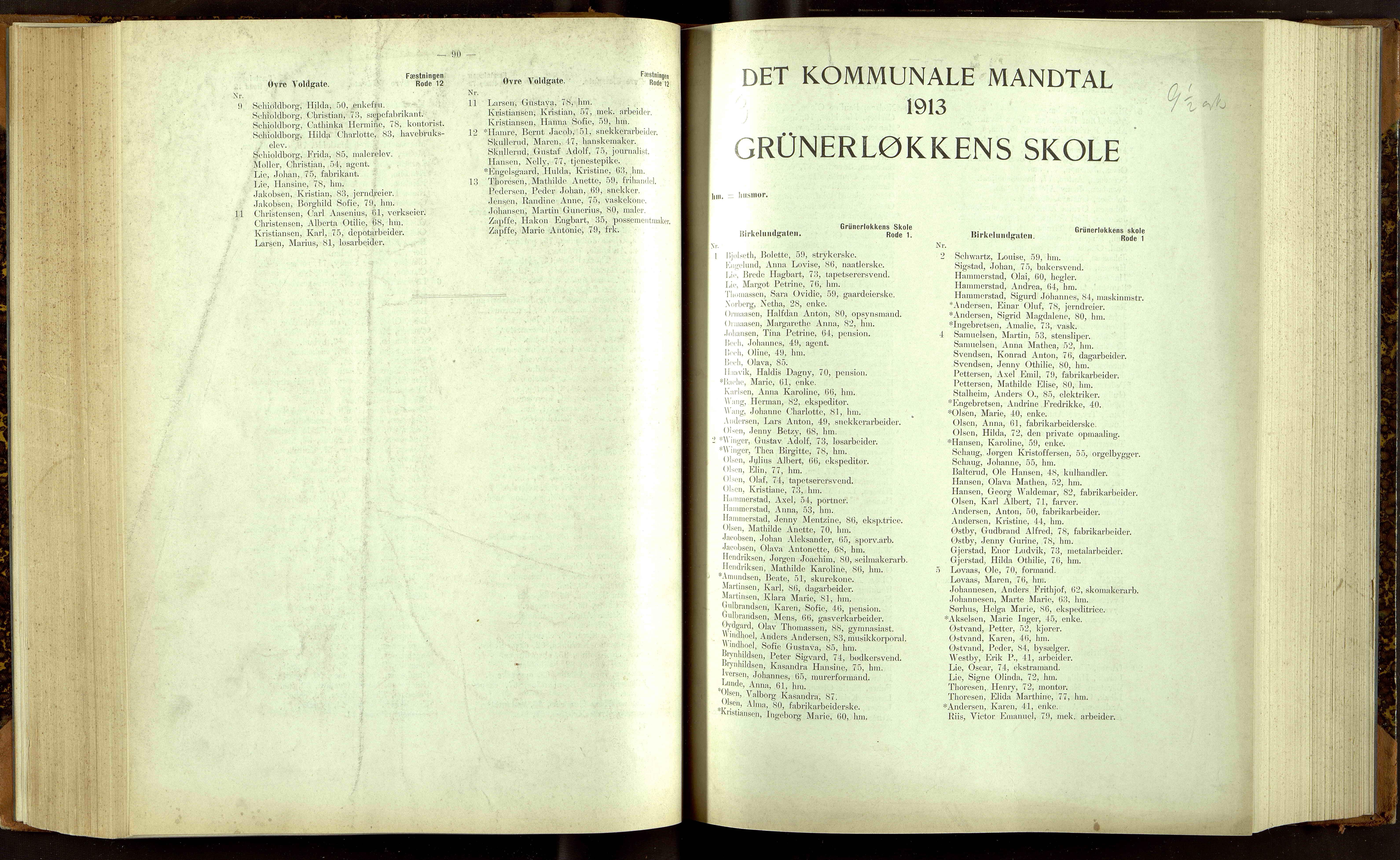 OBA, Folkeregisteret ( Valgstyret ), 1913, s. 3090-4001