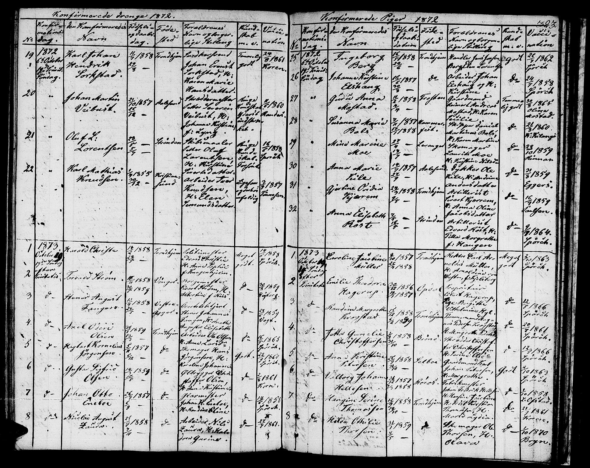 SAT, Ministerialprotokoller, klokkerbøker og fødselsregistre - Sør-Trøndelag, 601/L0070: Residerende kapellans bok nr. 601B03, 1821-1881, s. 323