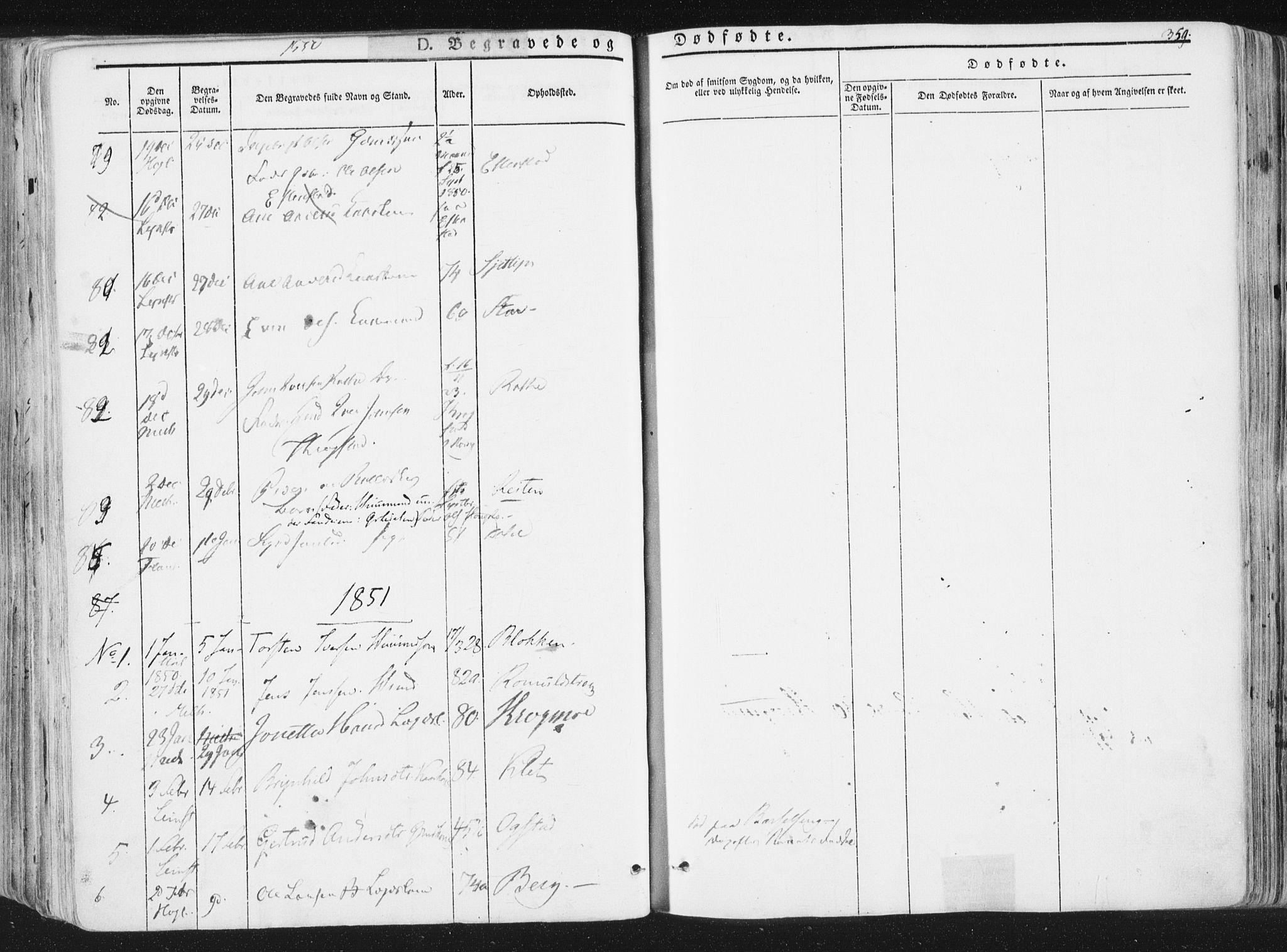 SAT, Ministerialprotokoller, klokkerbøker og fødselsregistre - Sør-Trøndelag, 691/L1074: Ministerialbok nr. 691A06, 1842-1852, s. 359