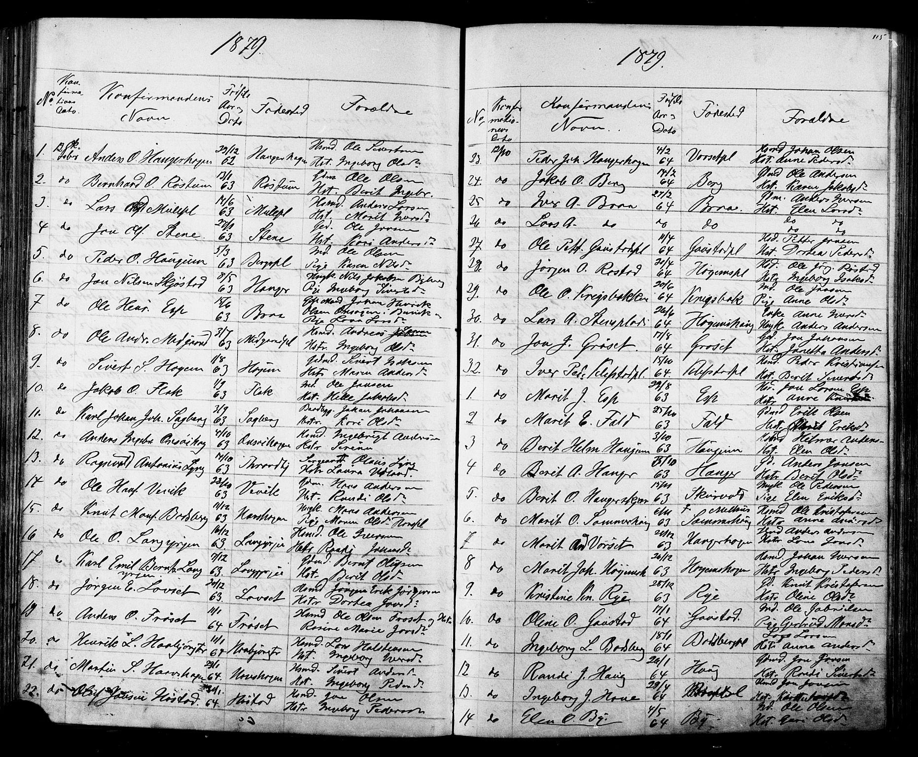 SAT, Ministerialprotokoller, klokkerbøker og fødselsregistre - Sør-Trøndelag, 612/L0387: Klokkerbok nr. 612C03, 1874-1908, s. 115