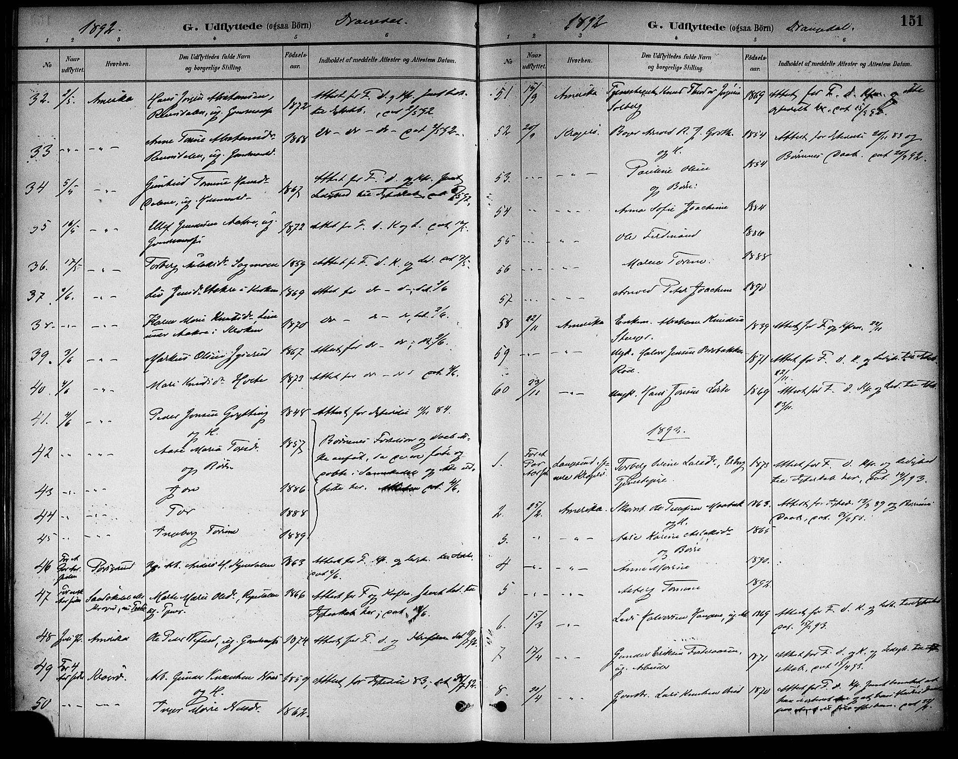 SAKO, Drangedal kirkebøker, F/Fa/L0011: Ministerialbok nr. 11 /1, 1885-1894, s. 151