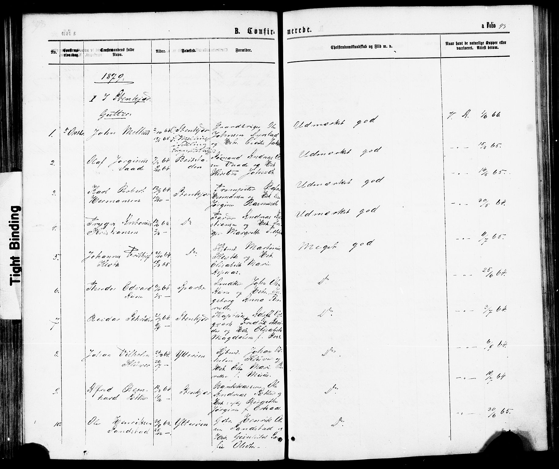 SAT, Ministerialprotokoller, klokkerbøker og fødselsregistre - Nord-Trøndelag, 739/L0370: Ministerialbok nr. 739A02, 1868-1881, s. 93