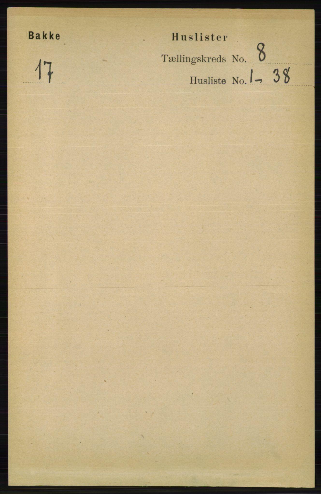 RA, Folketelling 1891 for 1045 Bakke herred, 1891, s. 1442