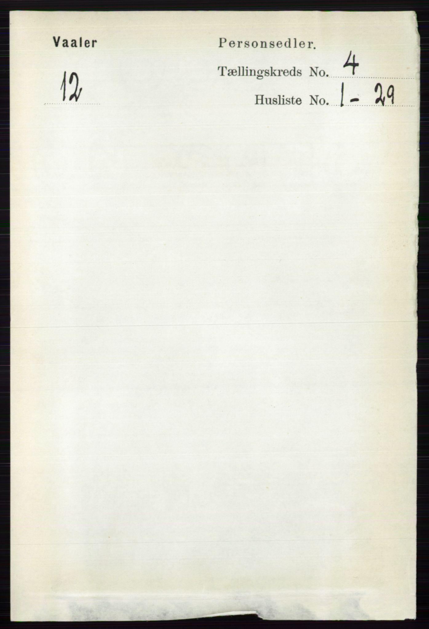 RA, Folketelling 1891 for 0426 Våler herred, 1891, s. 1462