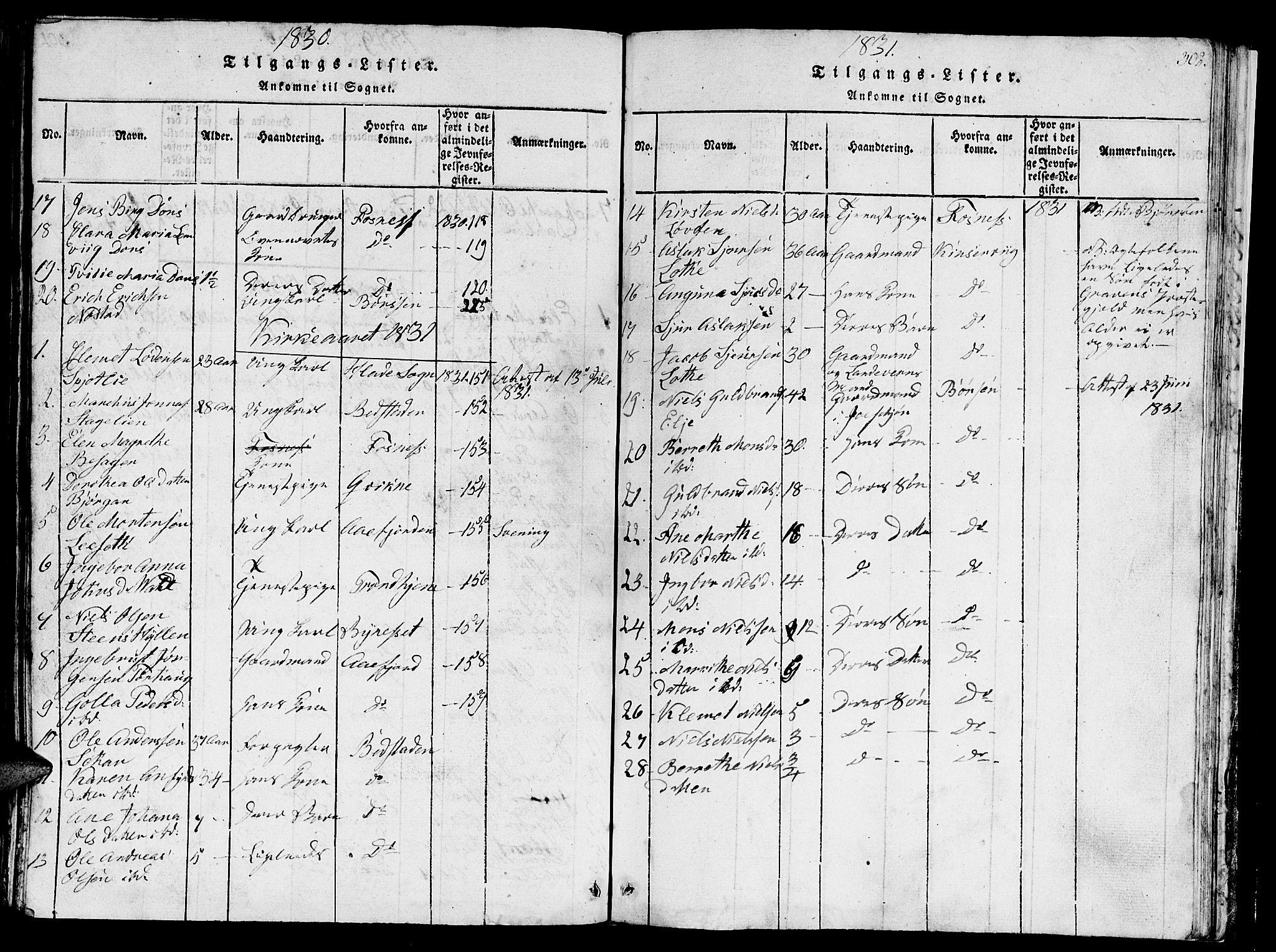 SAT, Ministerialprotokoller, klokkerbøker og fødselsregistre - Sør-Trøndelag, 657/L0714: Klokkerbok nr. 657C01, 1818-1868, s. 302