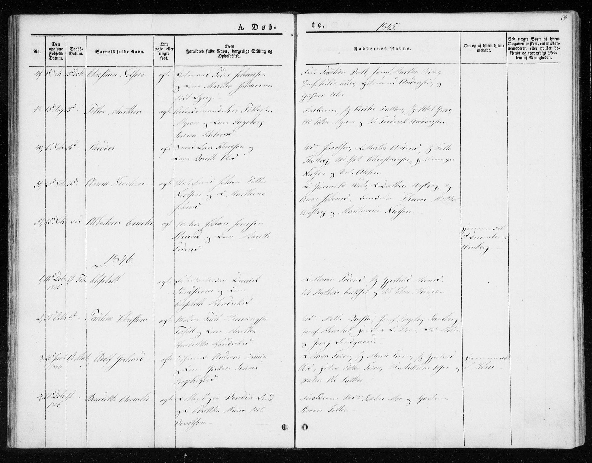 SAT, Ministerialprotokoller, klokkerbøker og fødselsregistre - Sør-Trøndelag, 604/L0183: Ministerialbok nr. 604A04, 1841-1850, s. 29