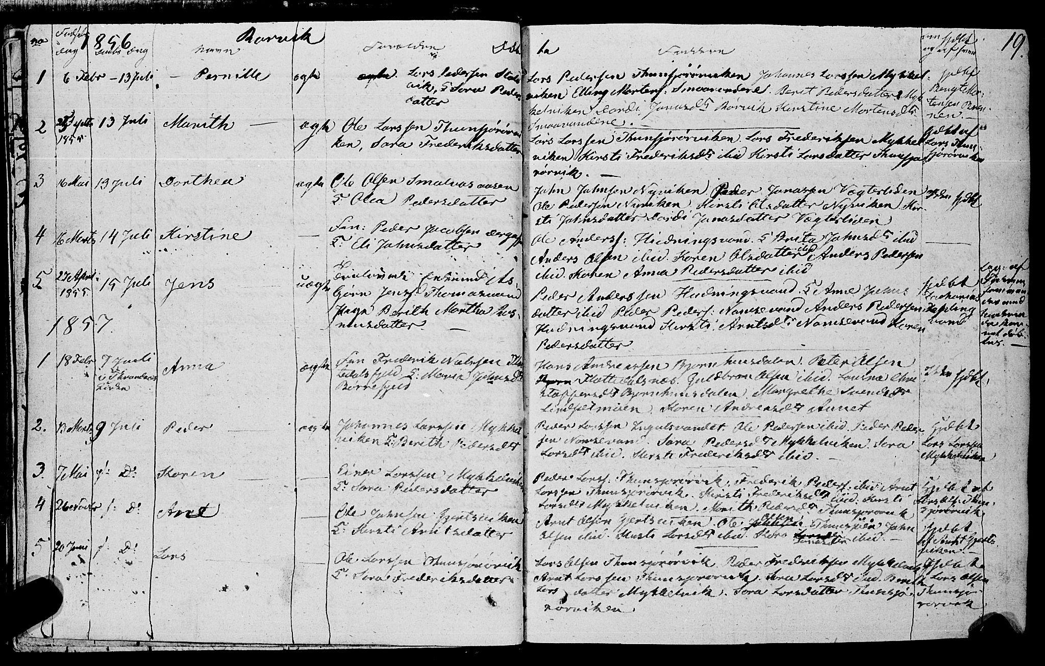 SAT, Ministerialprotokoller, klokkerbøker og fødselsregistre - Nord-Trøndelag, 762/L0538: Ministerialbok nr. 762A02 /1, 1833-1879, s. 19