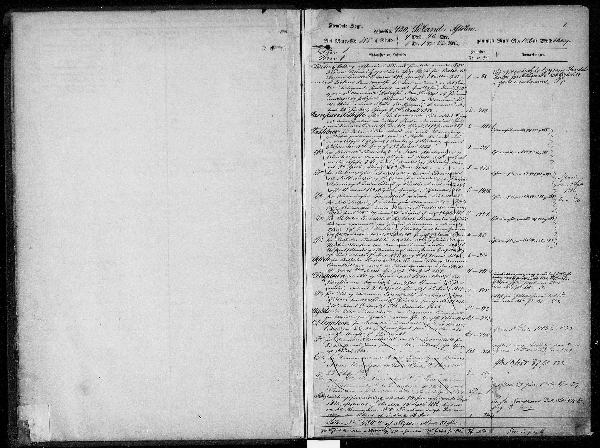 SAKO, Gjerpen sorenskriveri, G/Gb/Gba/L0005: Panteregister nr. I 5, s. 1