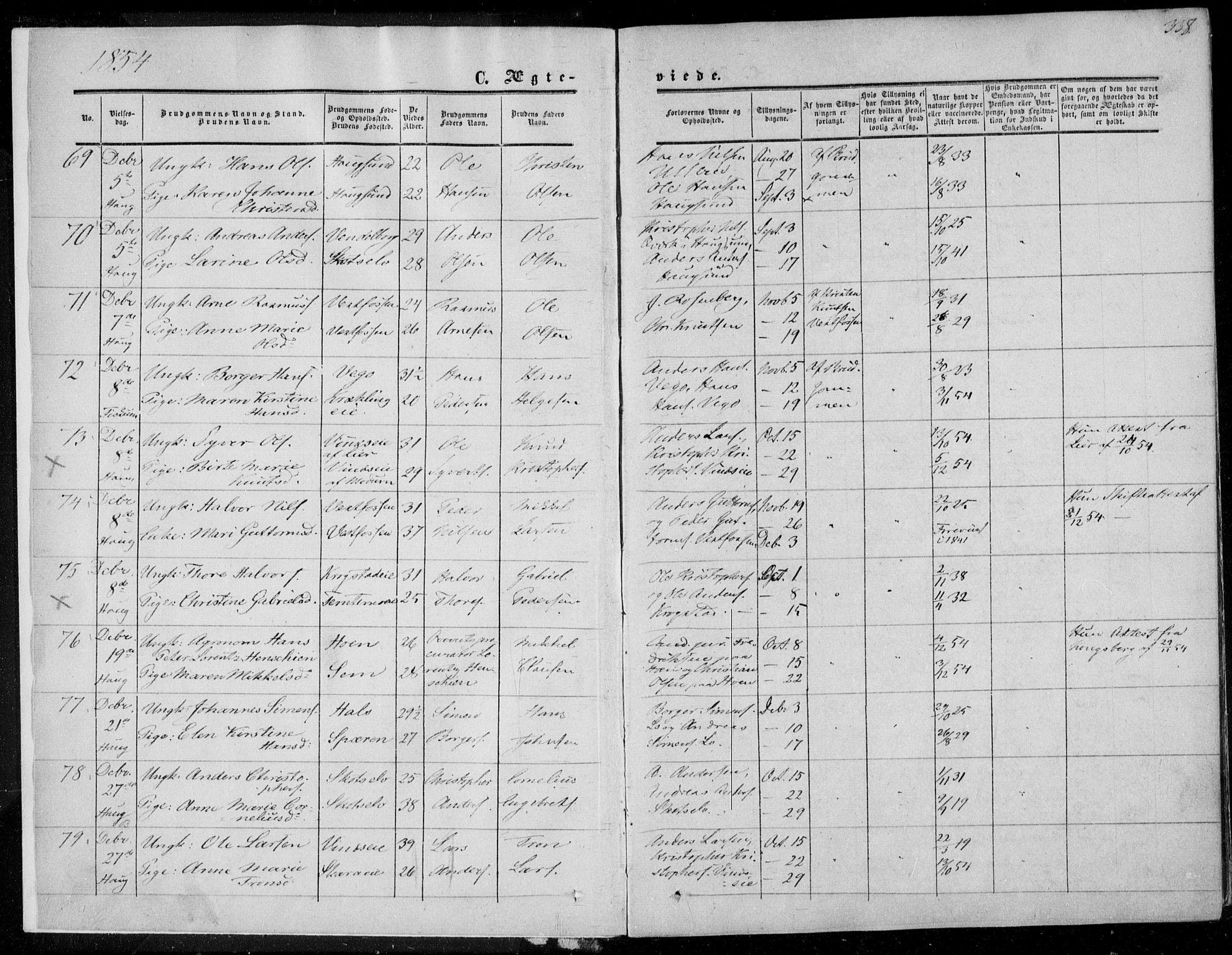 SAKO, Eiker kirkebøker, F/Fa/L0015b: Ministerialbok nr. I 15B, 1854-1860, s. 338