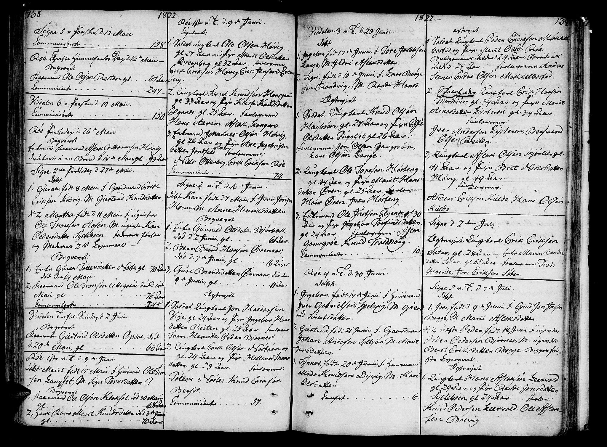 SAT, Ministerialprotokoller, klokkerbøker og fødselsregistre - Møre og Romsdal, 551/L0622: Ministerialbok nr. 551A02, 1804-1845, s. 138-139