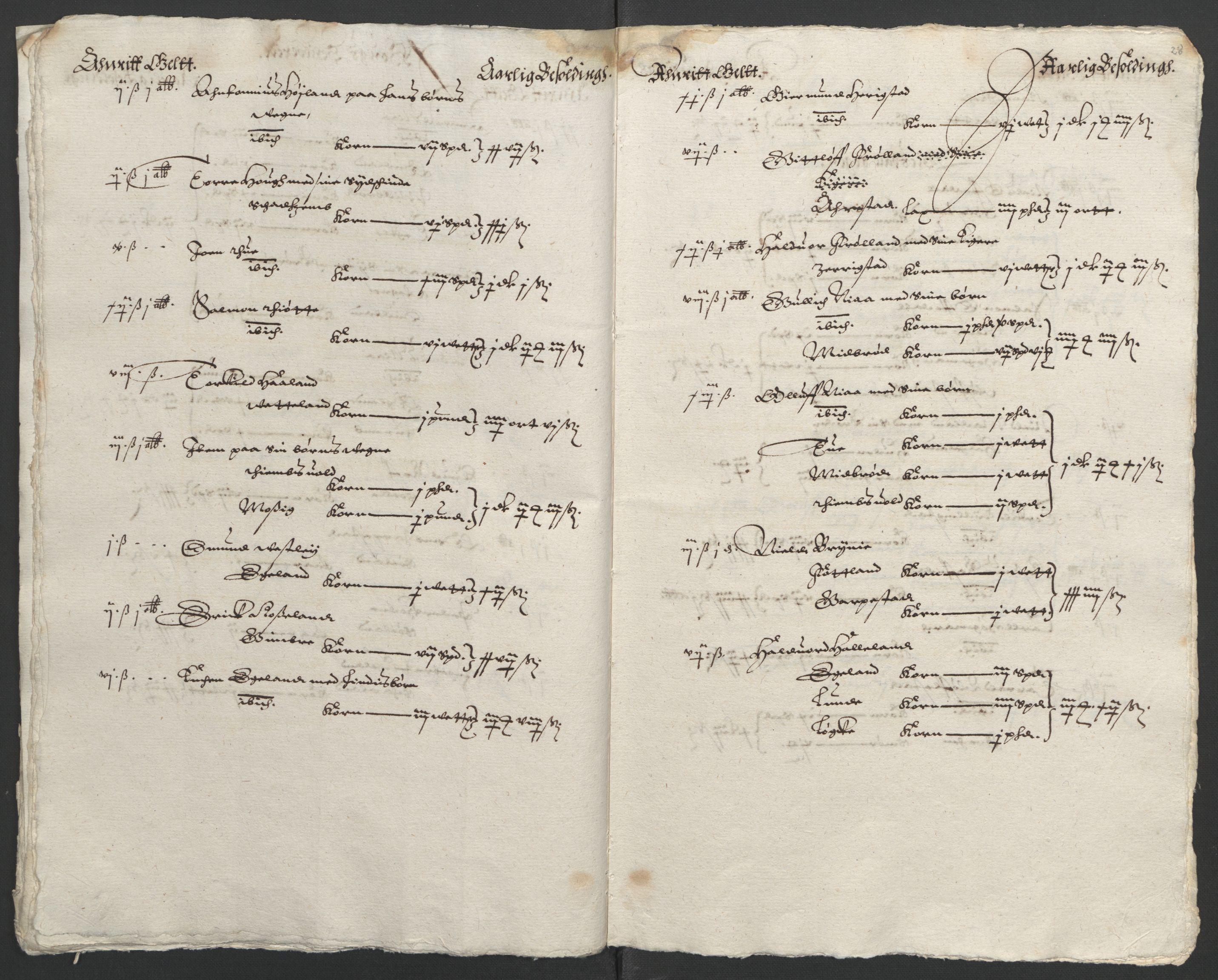RA, Stattholderembetet 1572-1771, Ek/L0010: Jordebøker til utlikning av rosstjeneste 1624-1626:, 1624-1626, s. 122