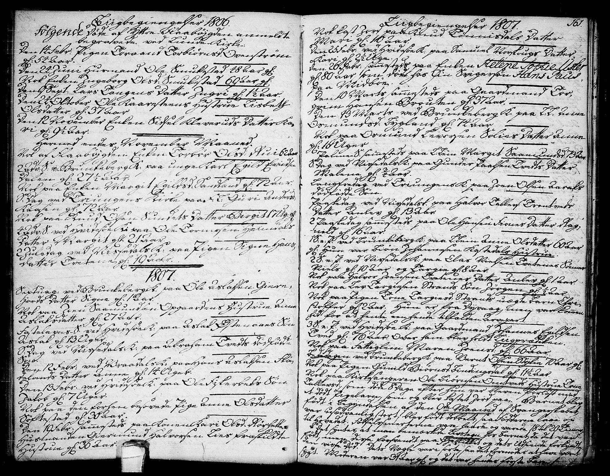 SAKO, Kviteseid kirkebøker, F/Fa/L0004: Ministerialbok nr. I 4, 1800-1814, s. 161