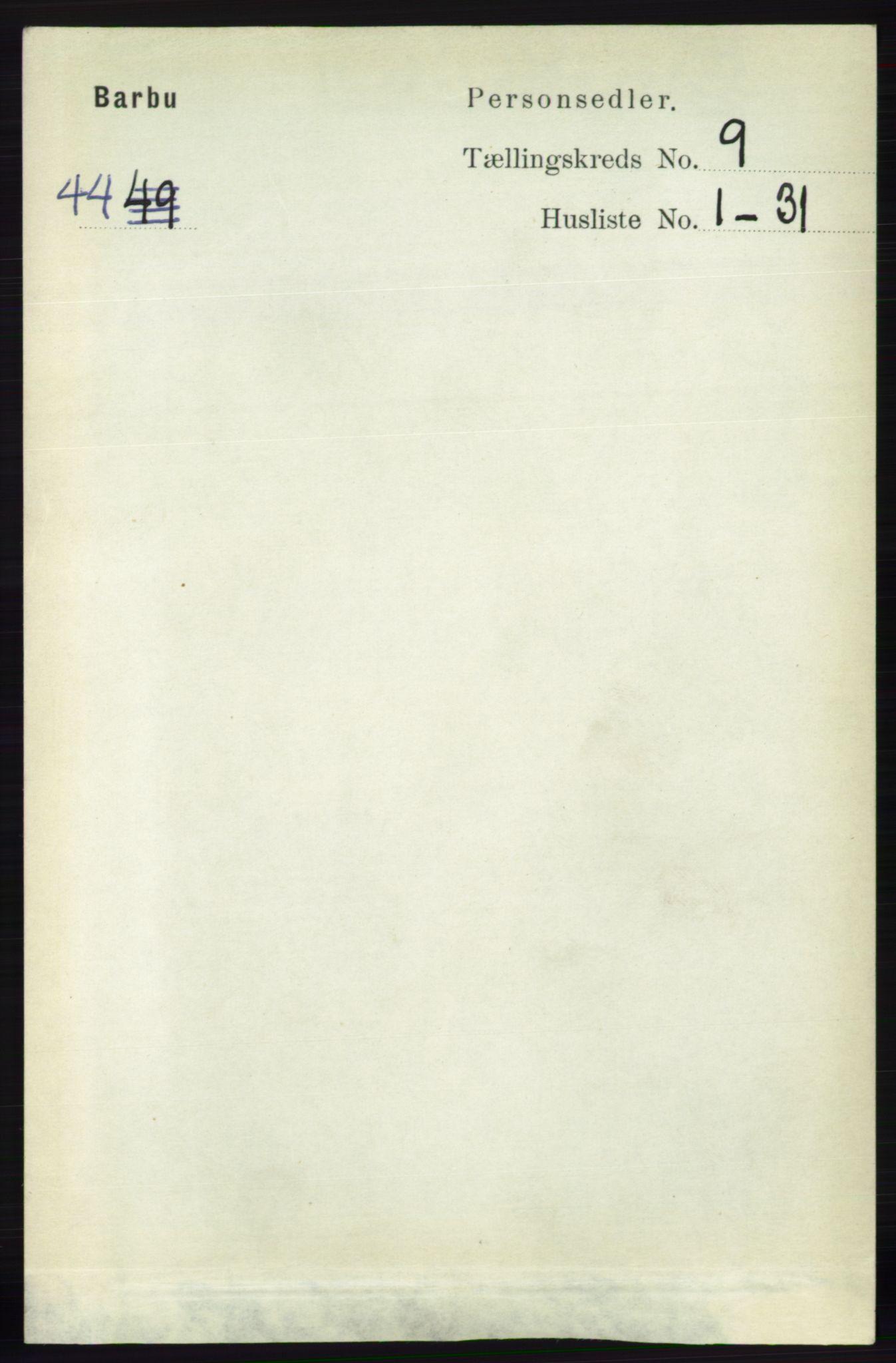 RA, Folketelling 1891 for 0990 Barbu herred, 1891, s. 7171