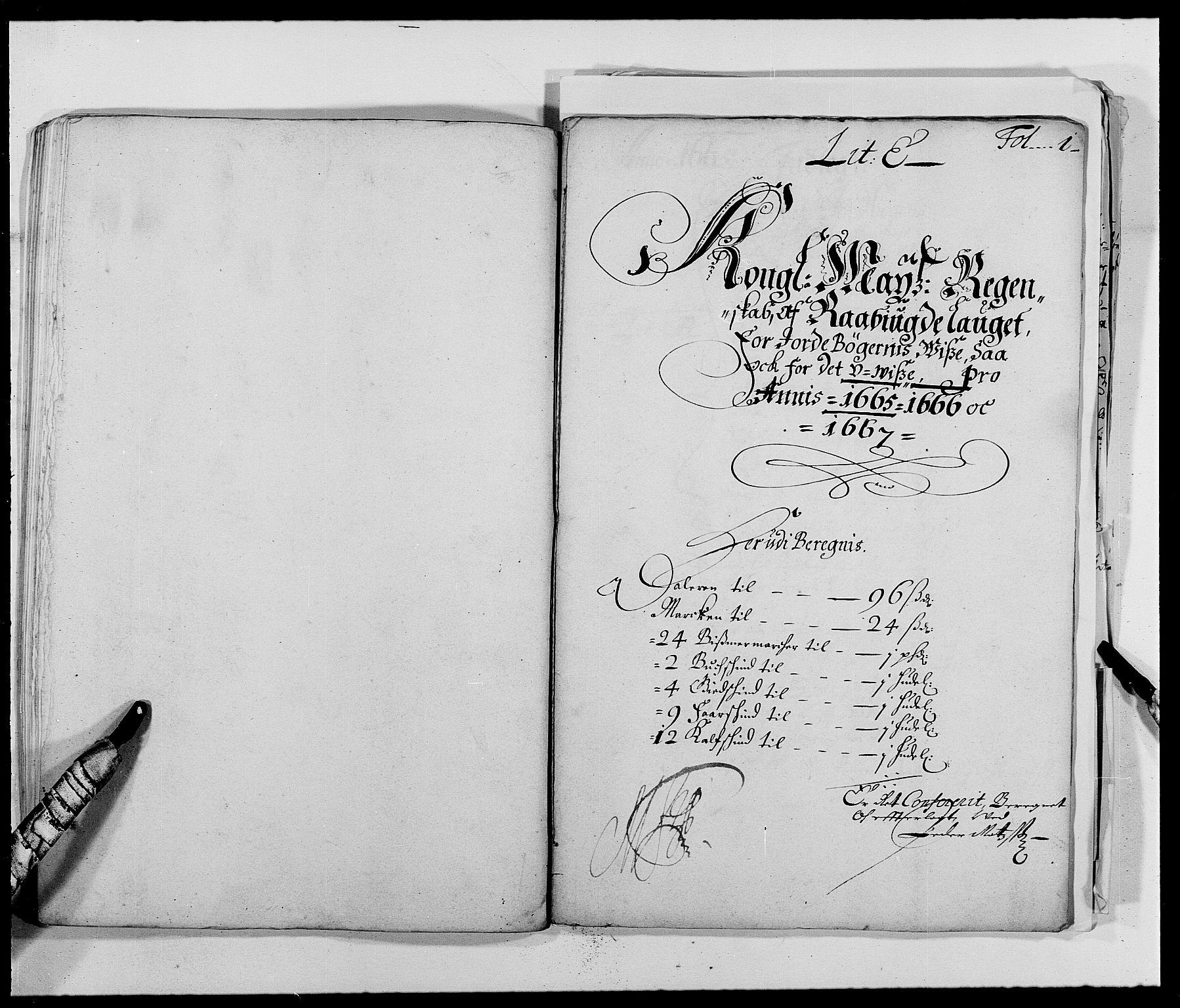 RA, Rentekammeret inntil 1814, Reviderte regnskaper, Fogderegnskap, R40/L2431: Fogderegnskap Råbyggelag, 1664-1668, s. 100