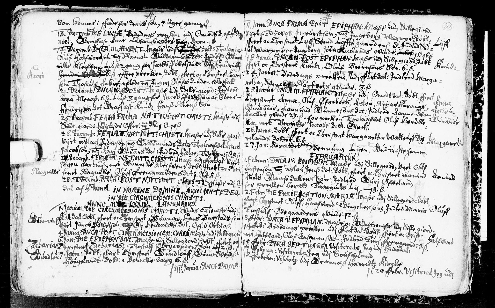 SAKO, Seljord kirkebøker, F/Fa/L0001: Ministerialbok nr. I 1, 1654-1686, s. 80