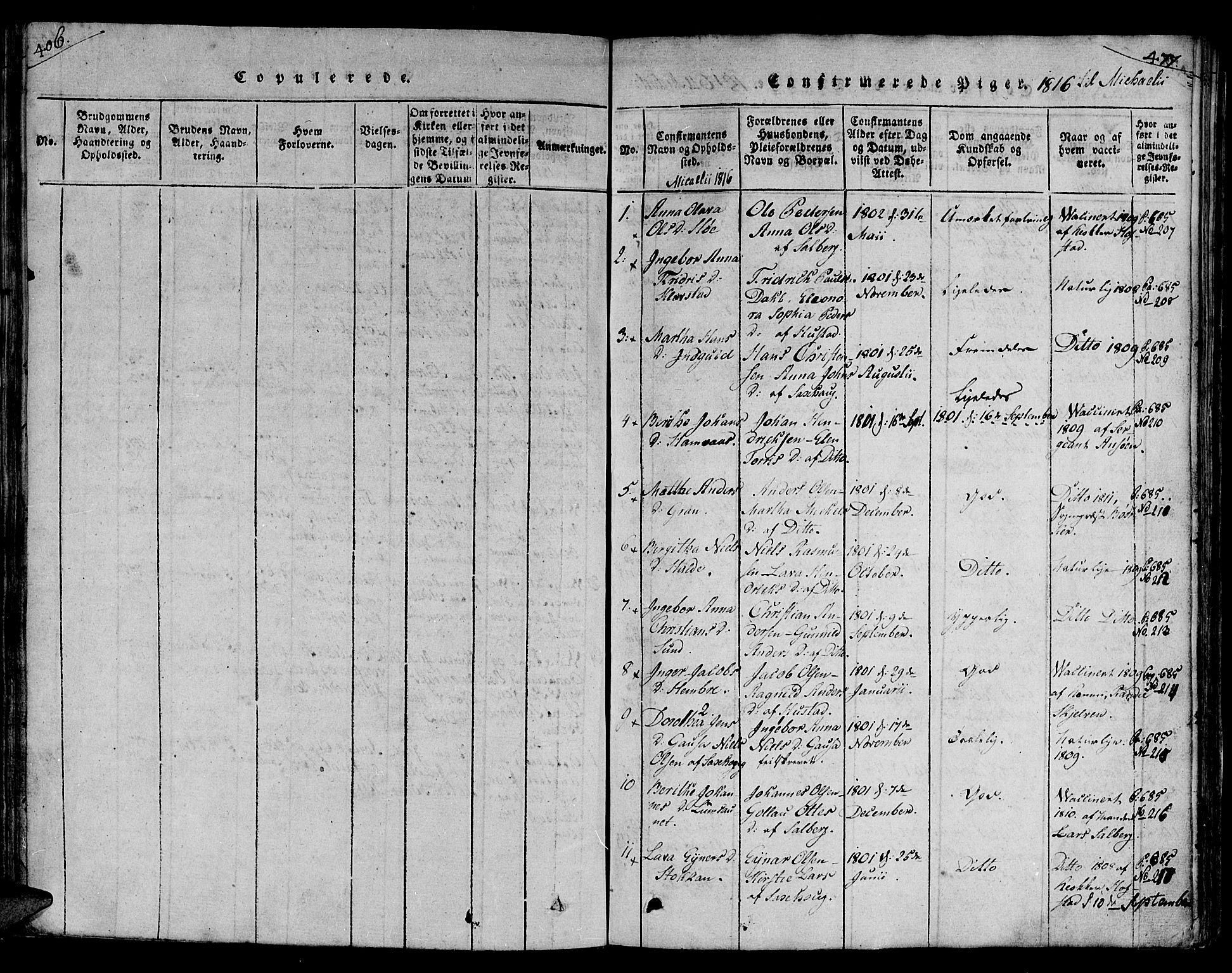 SAT, Ministerialprotokoller, klokkerbøker og fødselsregistre - Nord-Trøndelag, 730/L0275: Ministerialbok nr. 730A04, 1816-1822, s. 406-477