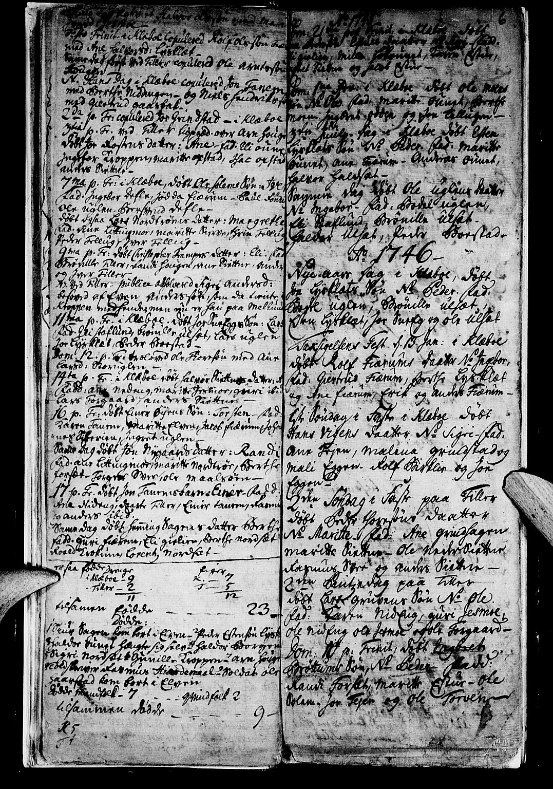 SAT, Ministerialprotokoller, klokkerbøker og fødselsregistre - Sør-Trøndelag, 618/L0436: Ministerialbok nr. 618A01, 1741-1749, s. 6