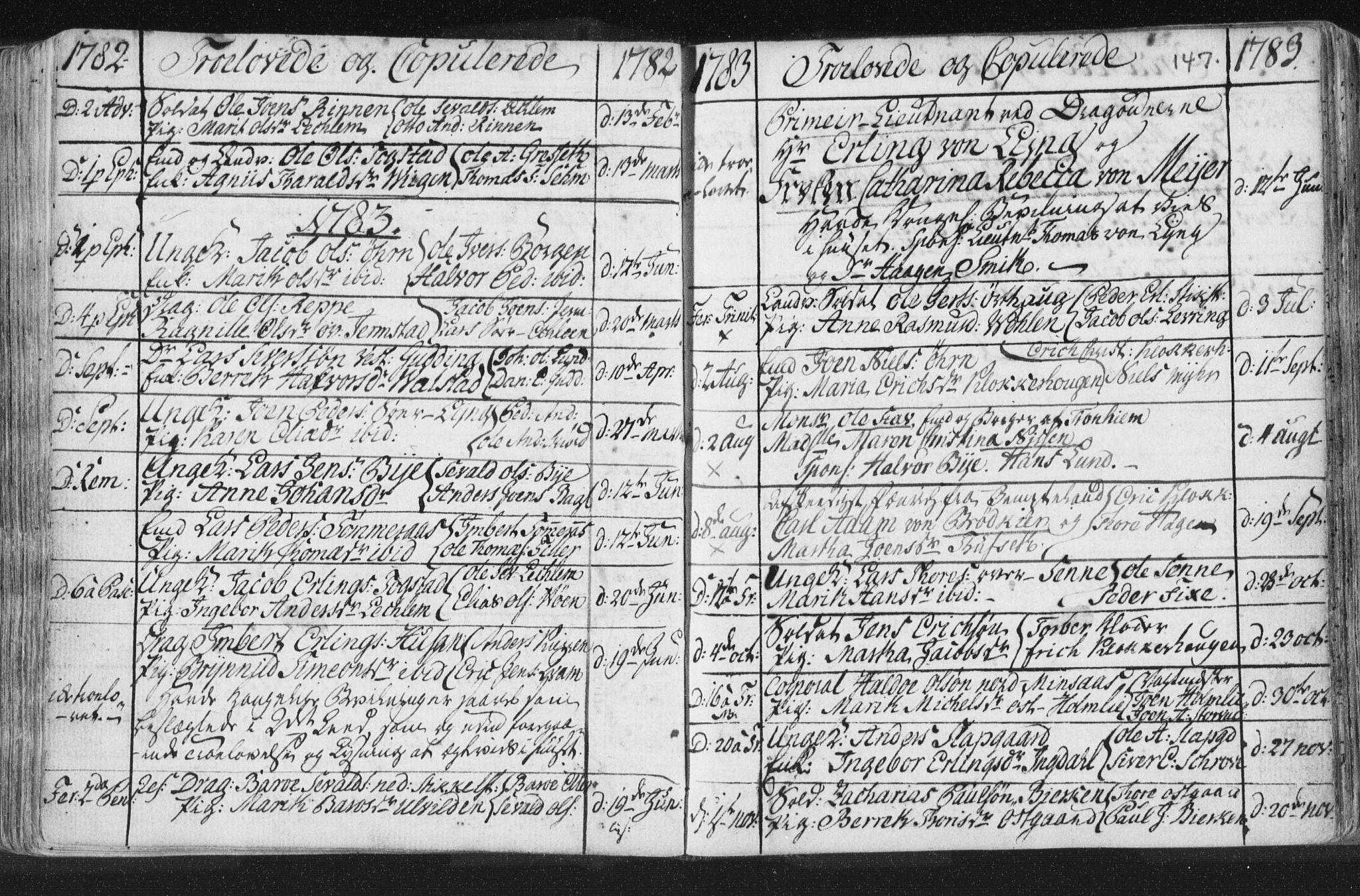SAT, Ministerialprotokoller, klokkerbøker og fødselsregistre - Nord-Trøndelag, 723/L0232: Ministerialbok nr. 723A03, 1781-1804, s. 147