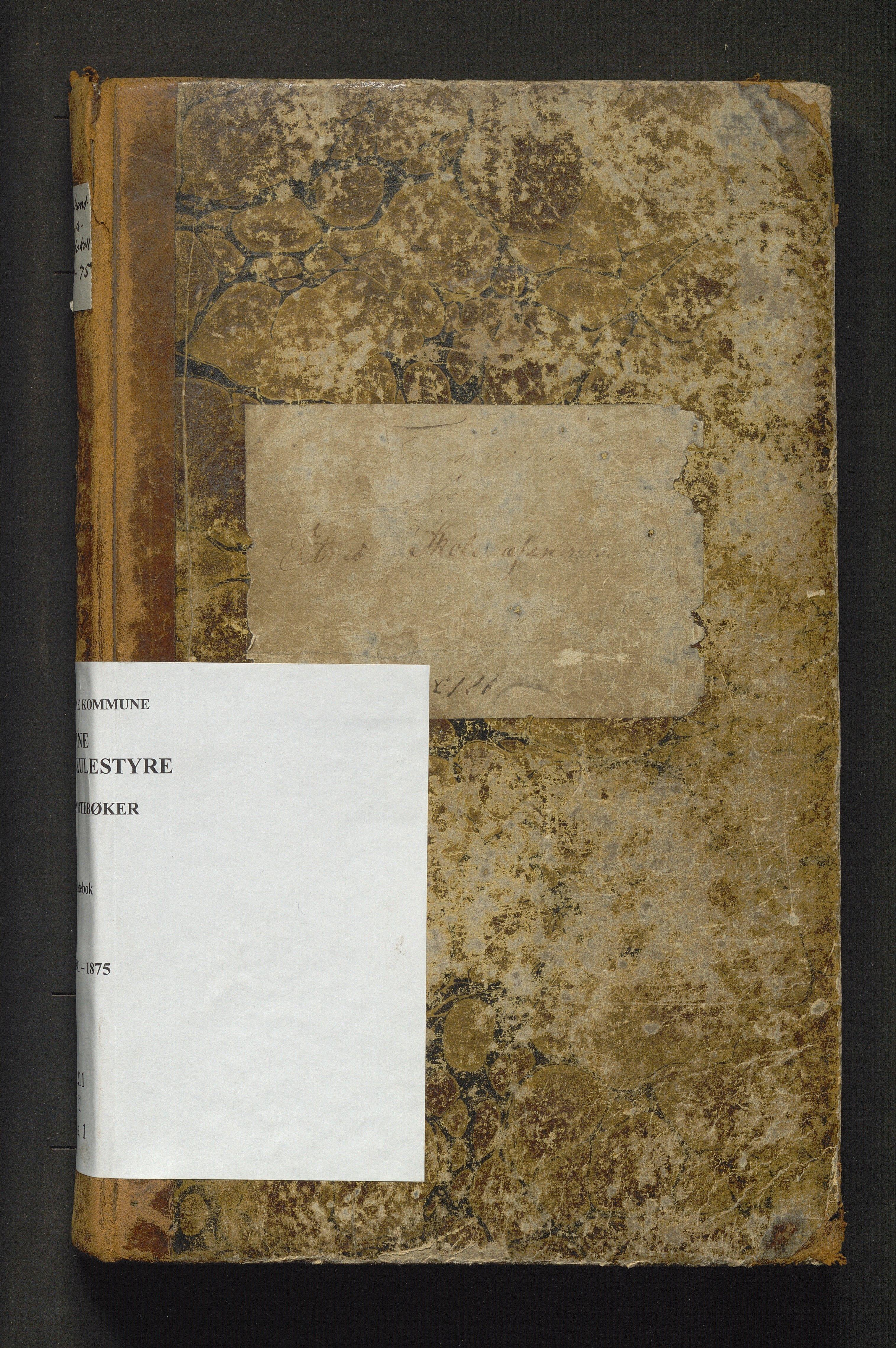 IKAH, Etne kommune. Skulestyret, A/Aa/L0001: Møtebok for Etne skulekommisjon, 1841-1875