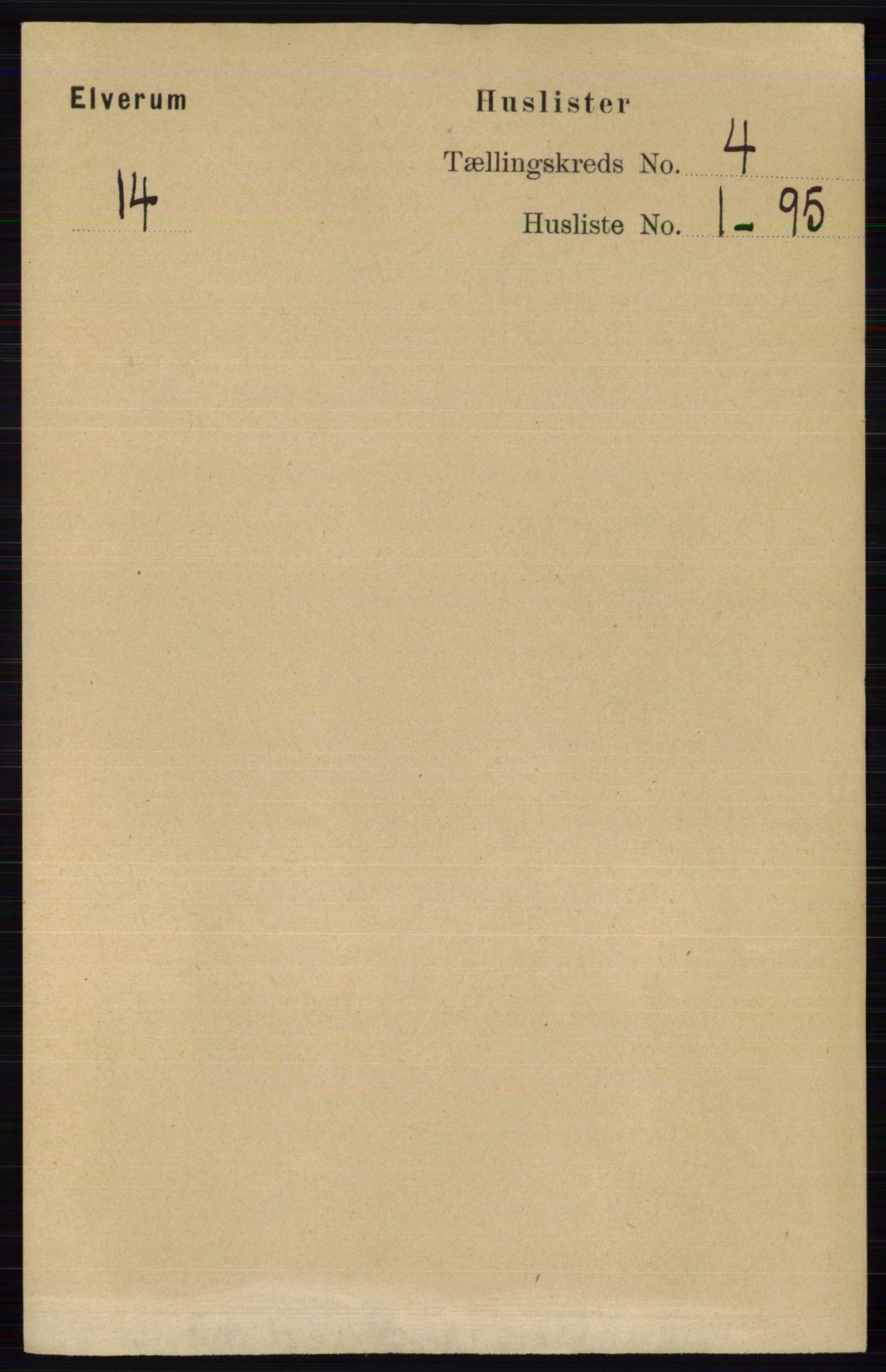 RA, Folketelling 1891 for 0427 Elverum herred, 1891, s. 2276