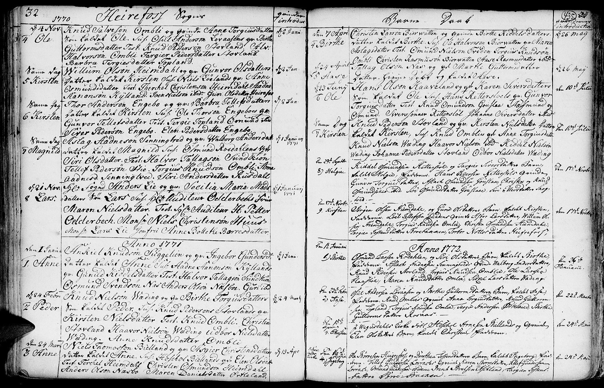 SAK, Hommedal sokneprestkontor, F/Fa/Fab/L0002: Ministerialbok nr. A 2 /3, 1740-1821, s. 435