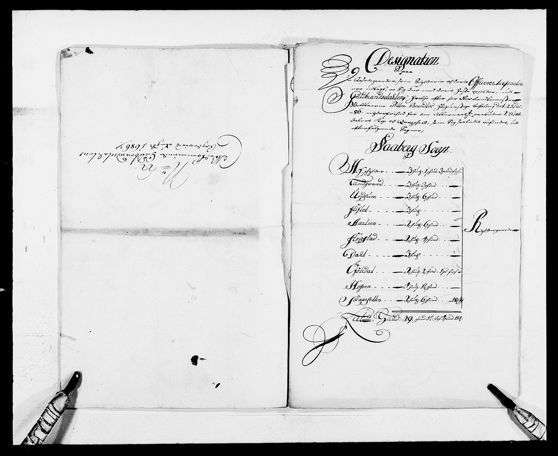RA, Rentekammeret inntil 1814, Reviderte regnskaper, Fogderegnskap, R17/L1161: Fogderegnskap Gudbrandsdal, 1682-1689, s. 298