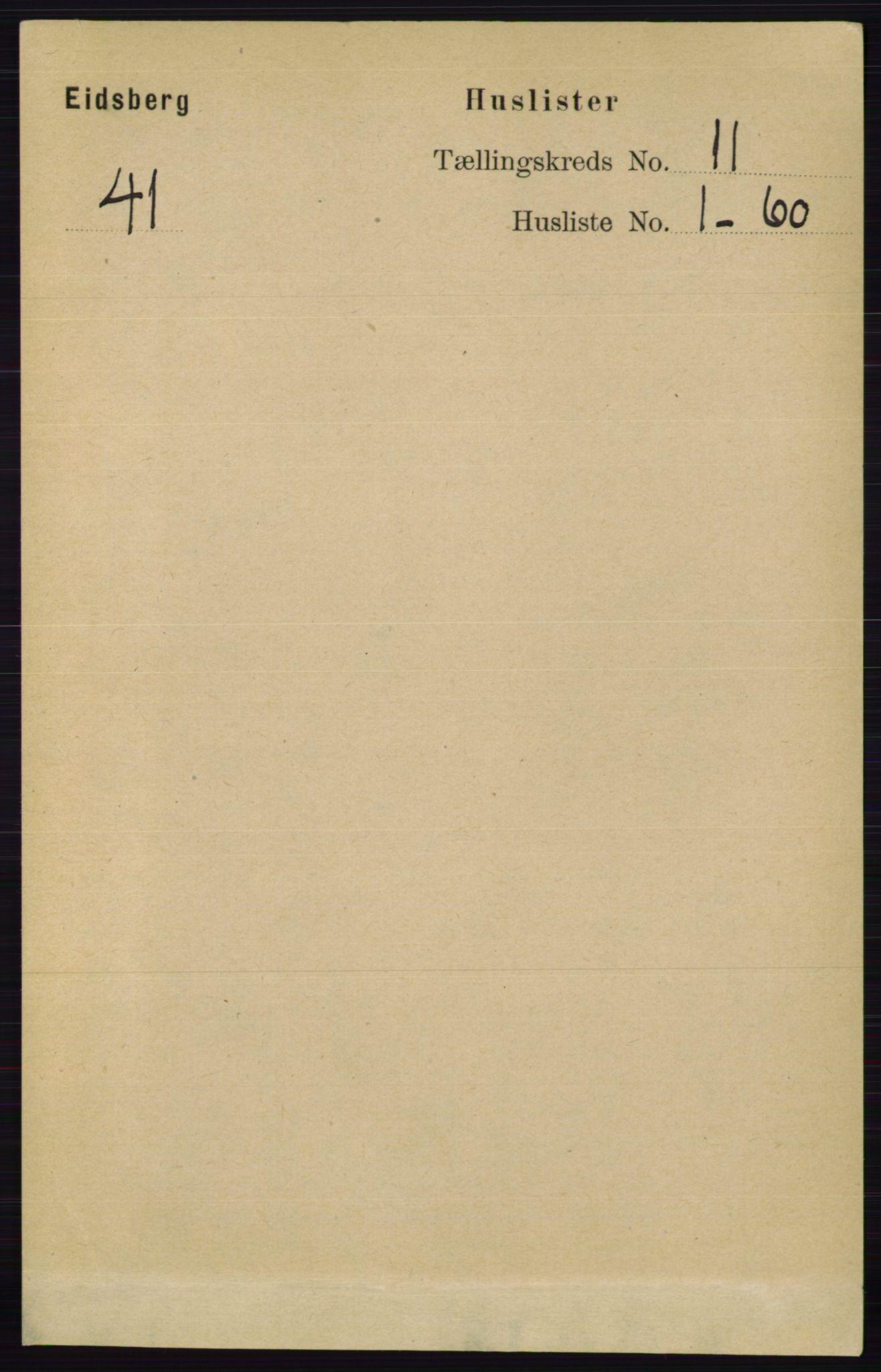 RA, Folketelling 1891 for 0125 Eidsberg herred, 1891, s. 6298