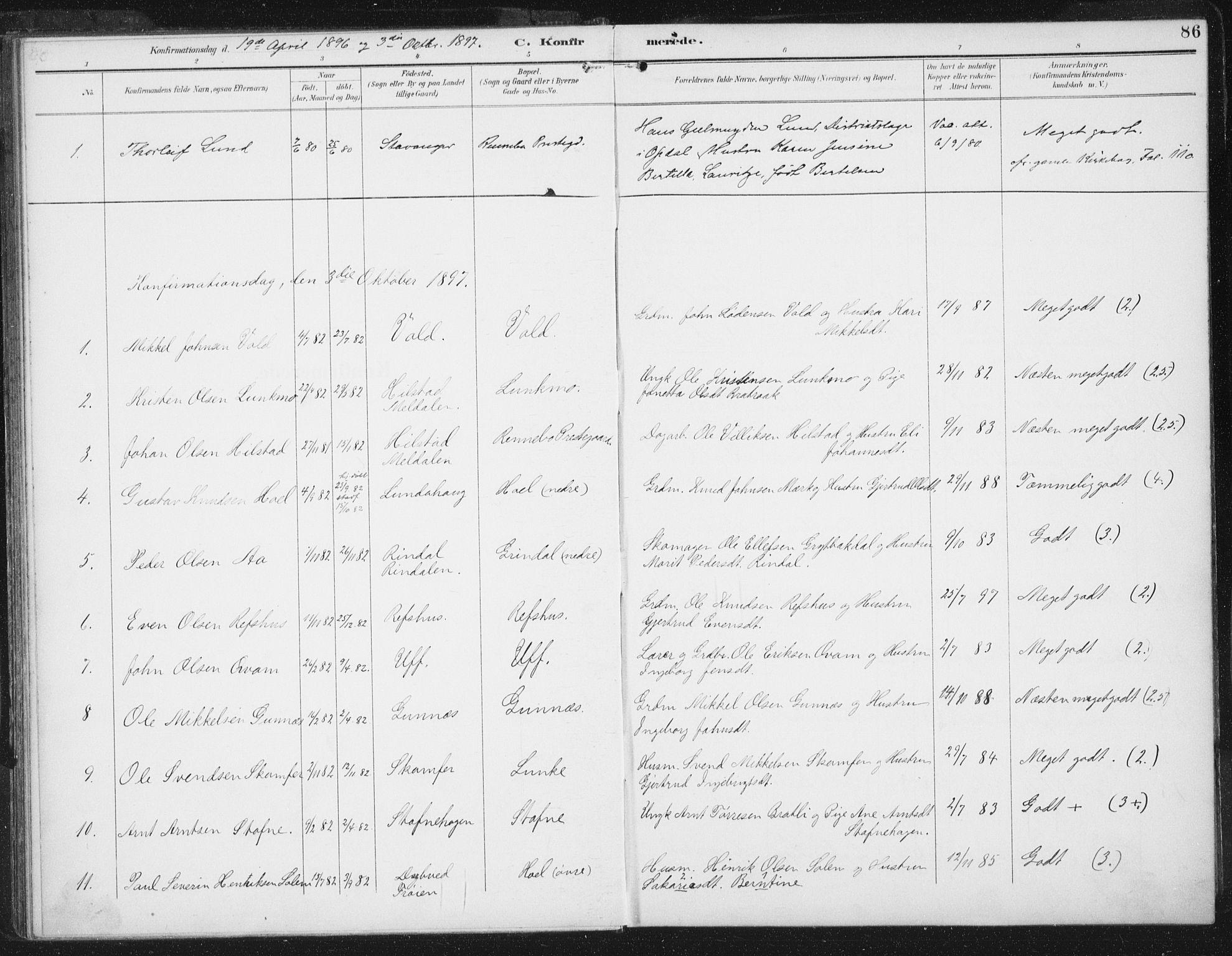 SAT, Ministerialprotokoller, klokkerbøker og fødselsregistre - Sør-Trøndelag, 674/L0872: Ministerialbok nr. 674A04, 1897-1907, s. 86