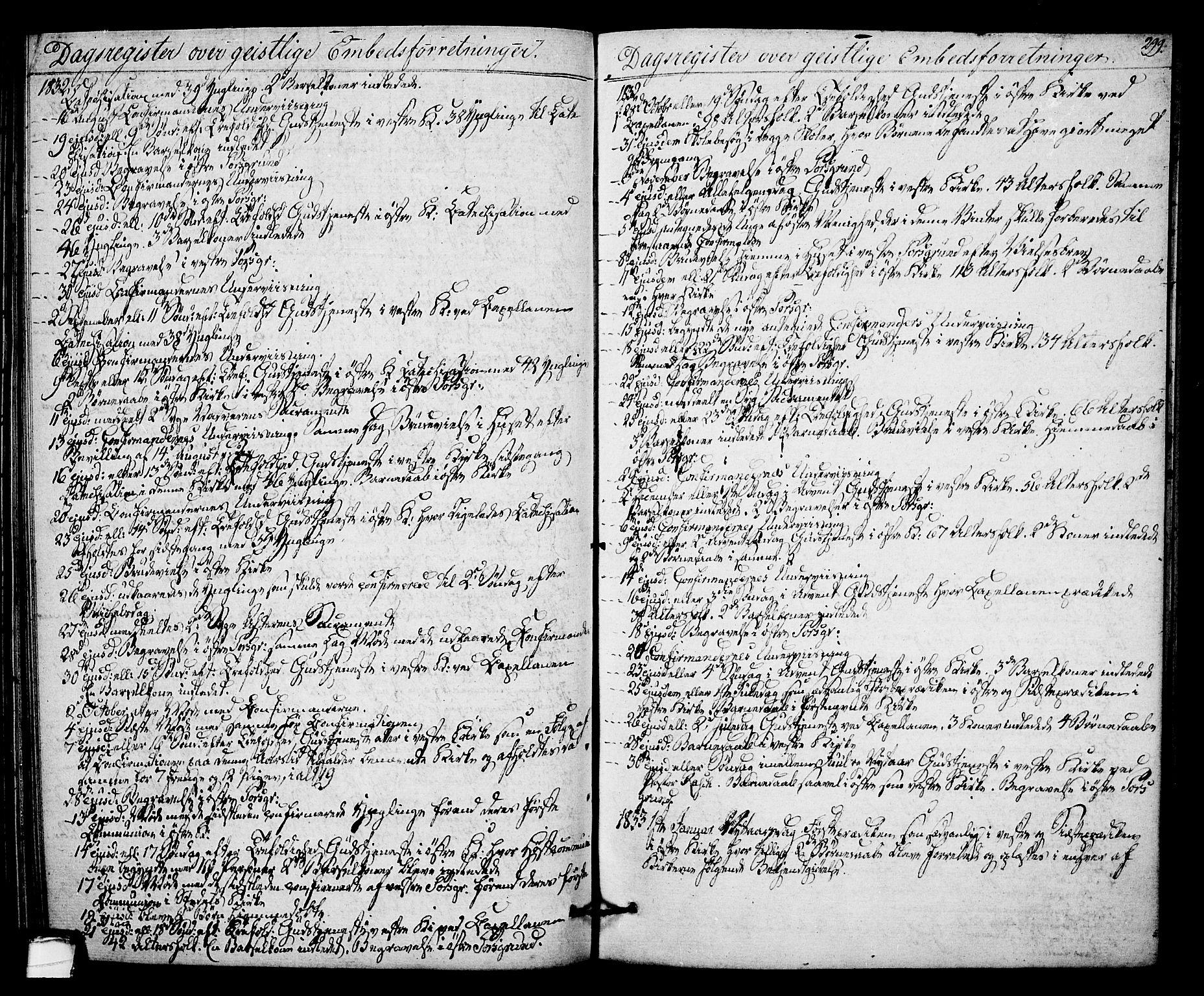 SAKO, Porsgrunn kirkebøker , F/Fa/L0005: Ministerialbok nr. 5, 1828-1840, s. 299