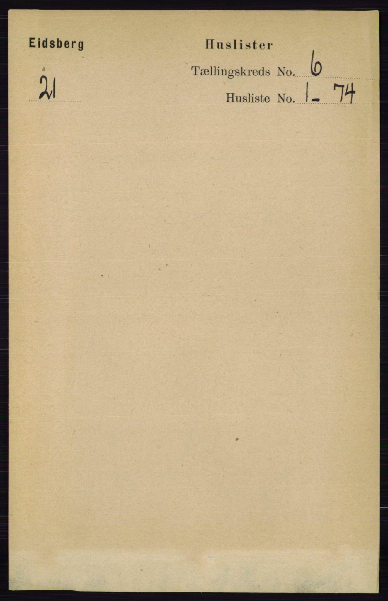 RA, Folketelling 1891 for 0125 Eidsberg herred, 1891, s. 3486
