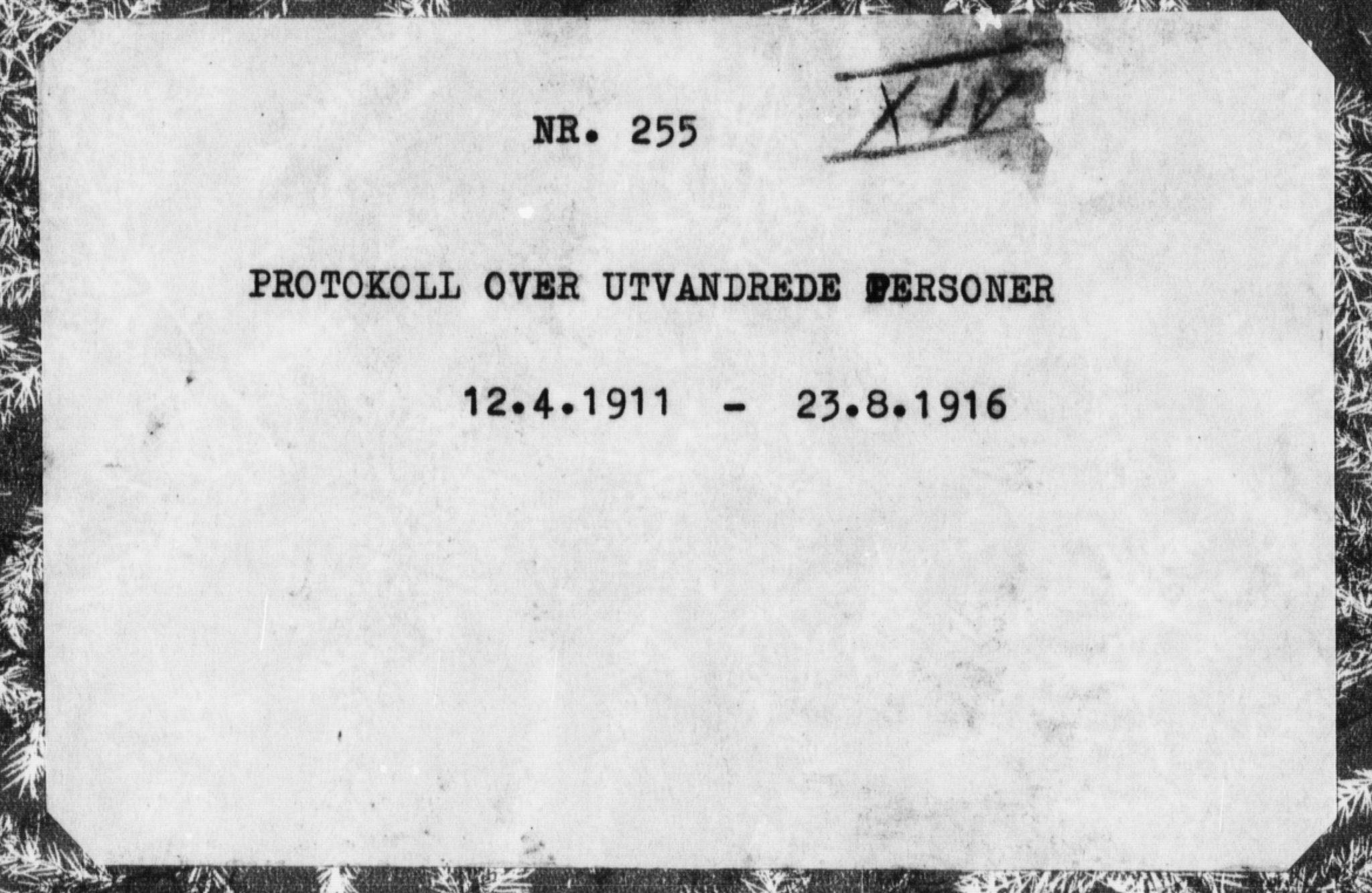 SAT, Trondheim politikammer, 32/L0015: Emigrantprotokoll XIV, 1911-1916