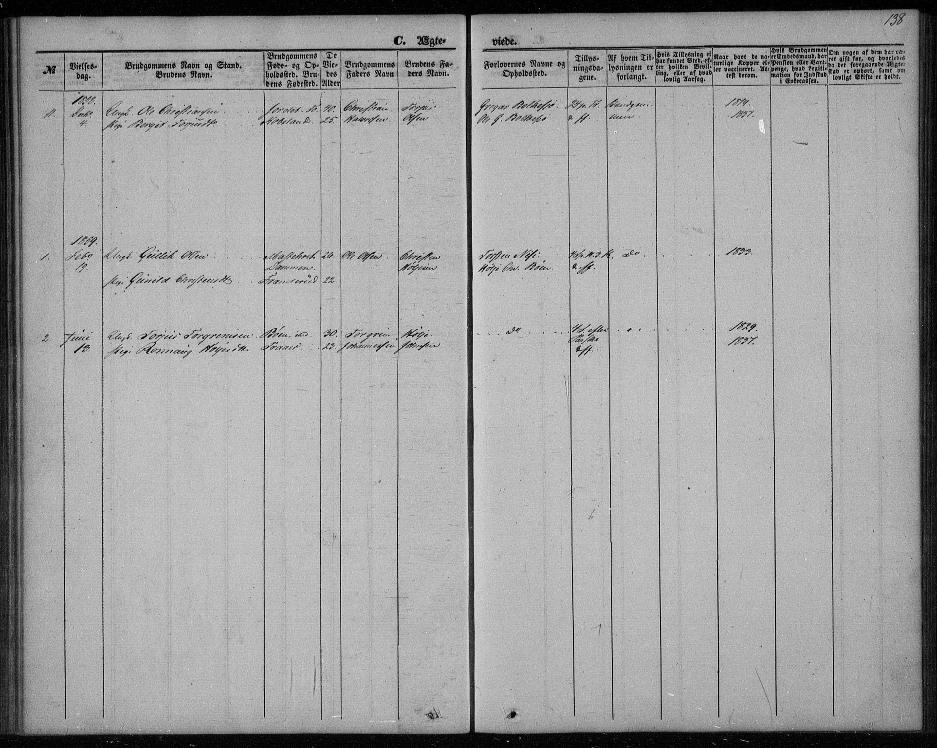 SAKO, Gransherad kirkebøker, F/Fa/L0002: Ministerialbok nr. I 2, 1844-1859, s. 138